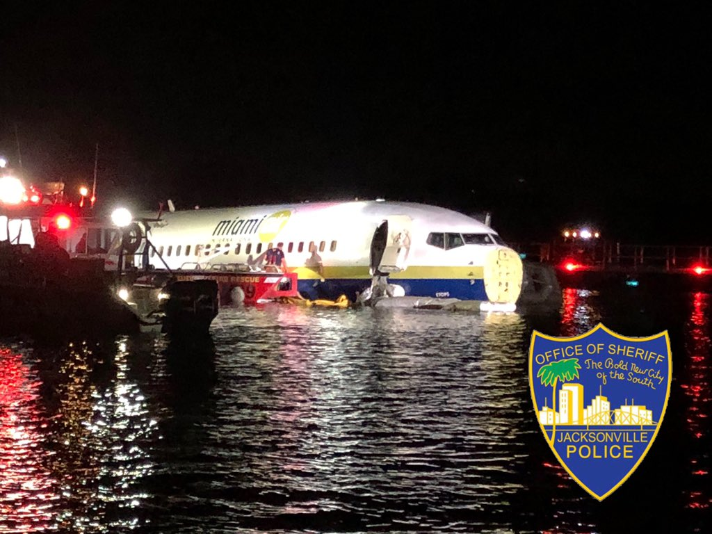 It's a 'miracle' no one was killed when Boeing 737 crashed into river in Jacksonville, Fla.