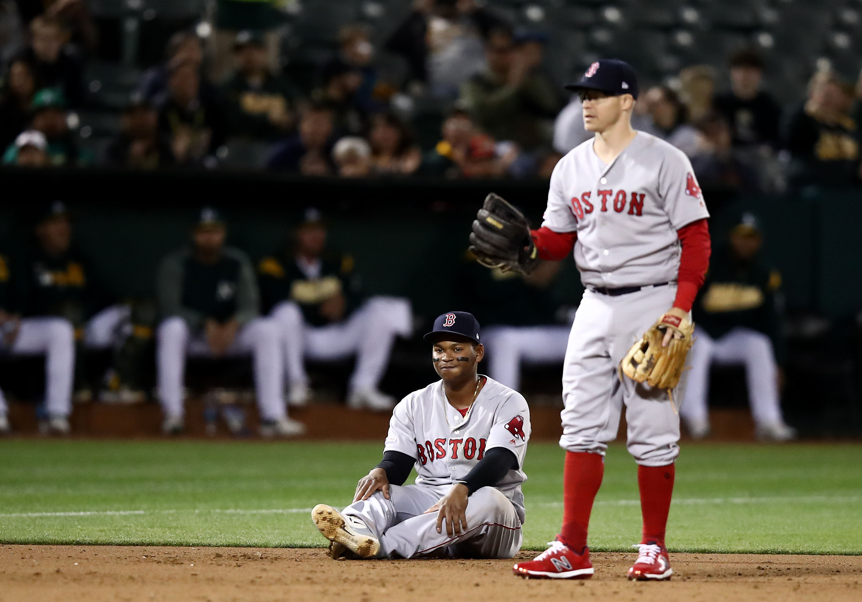 News is good on Brock Holt, Nathan Eovaldi; setback for Dustin Pedroia