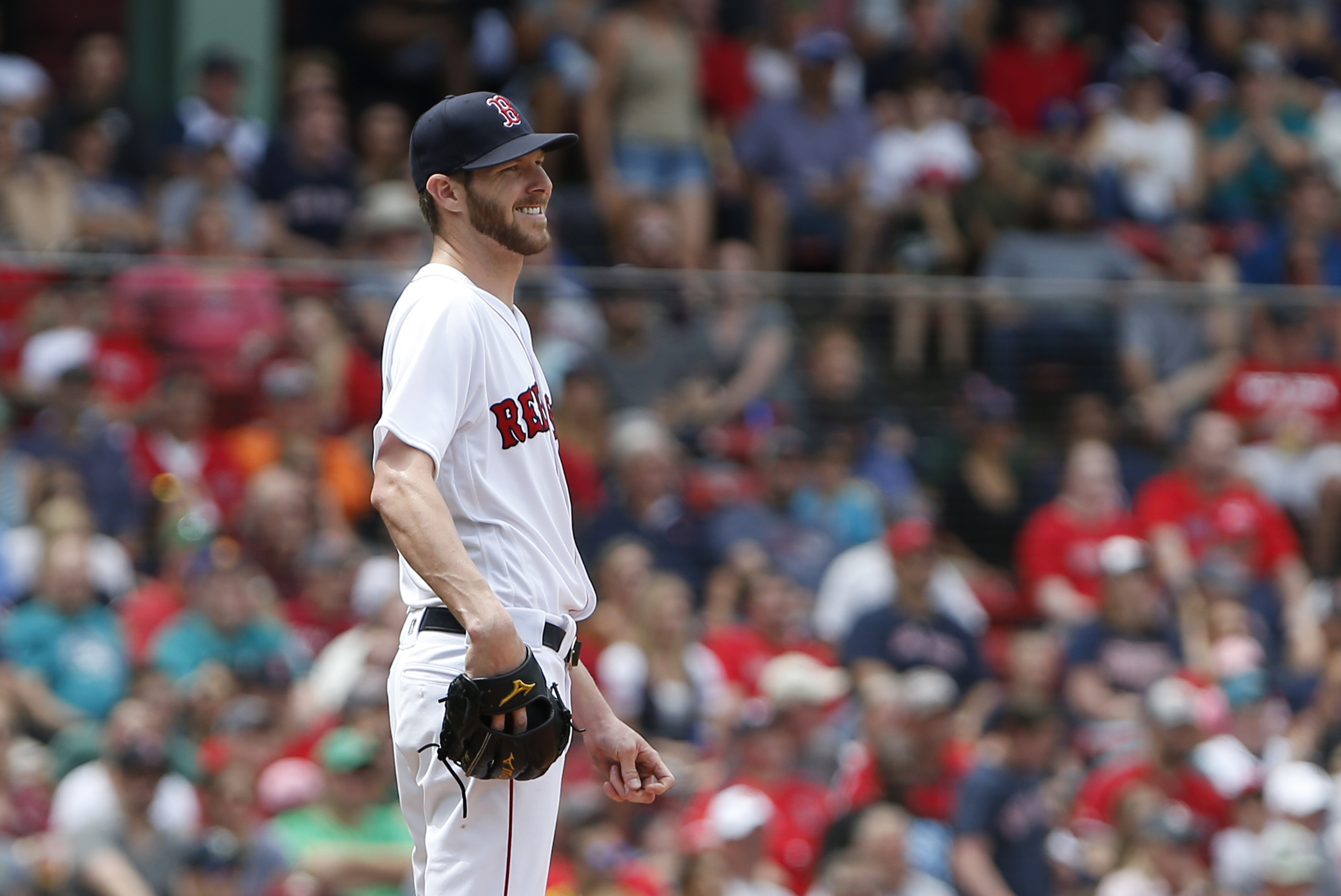 acad2468f Chris Sale comfortable with Red Sox — and it shows - The Boston Globe