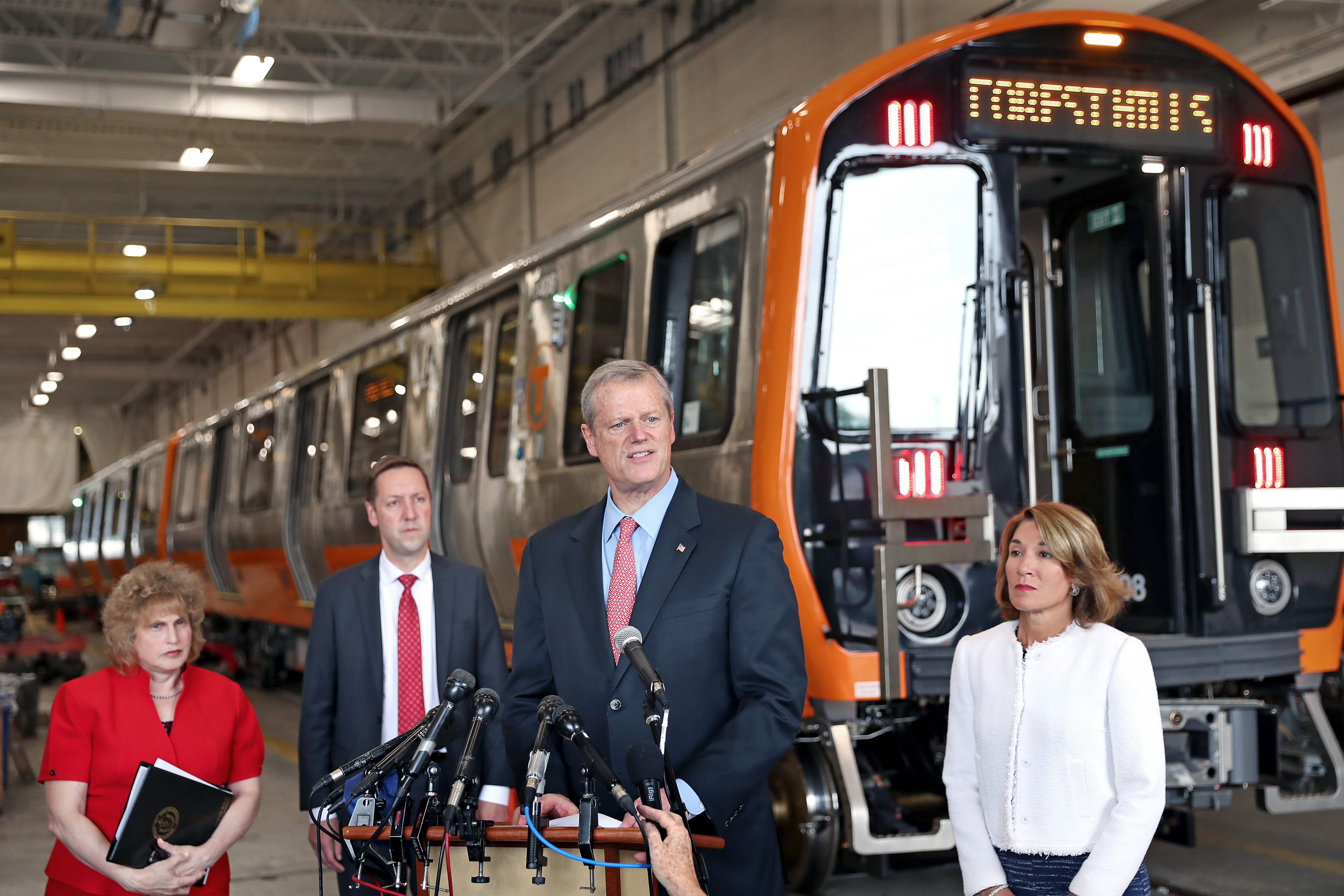 Facing pressure, Baker will seek $50 million for MBTA to
