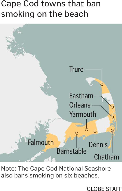 Cape towns ban beach smoking - The Boston Globe