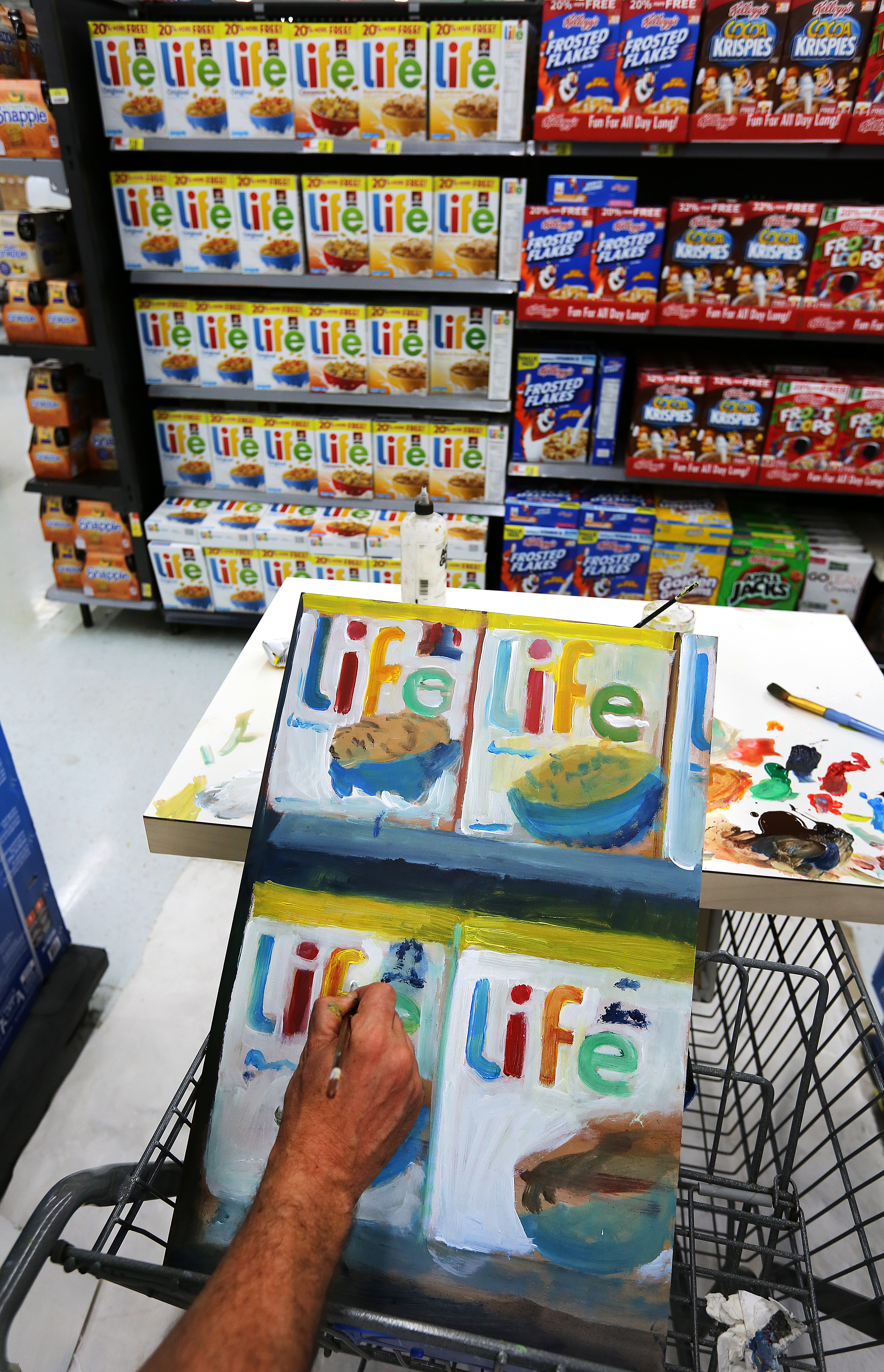 An artist finds inspiration in Walmart's aisles - The Boston