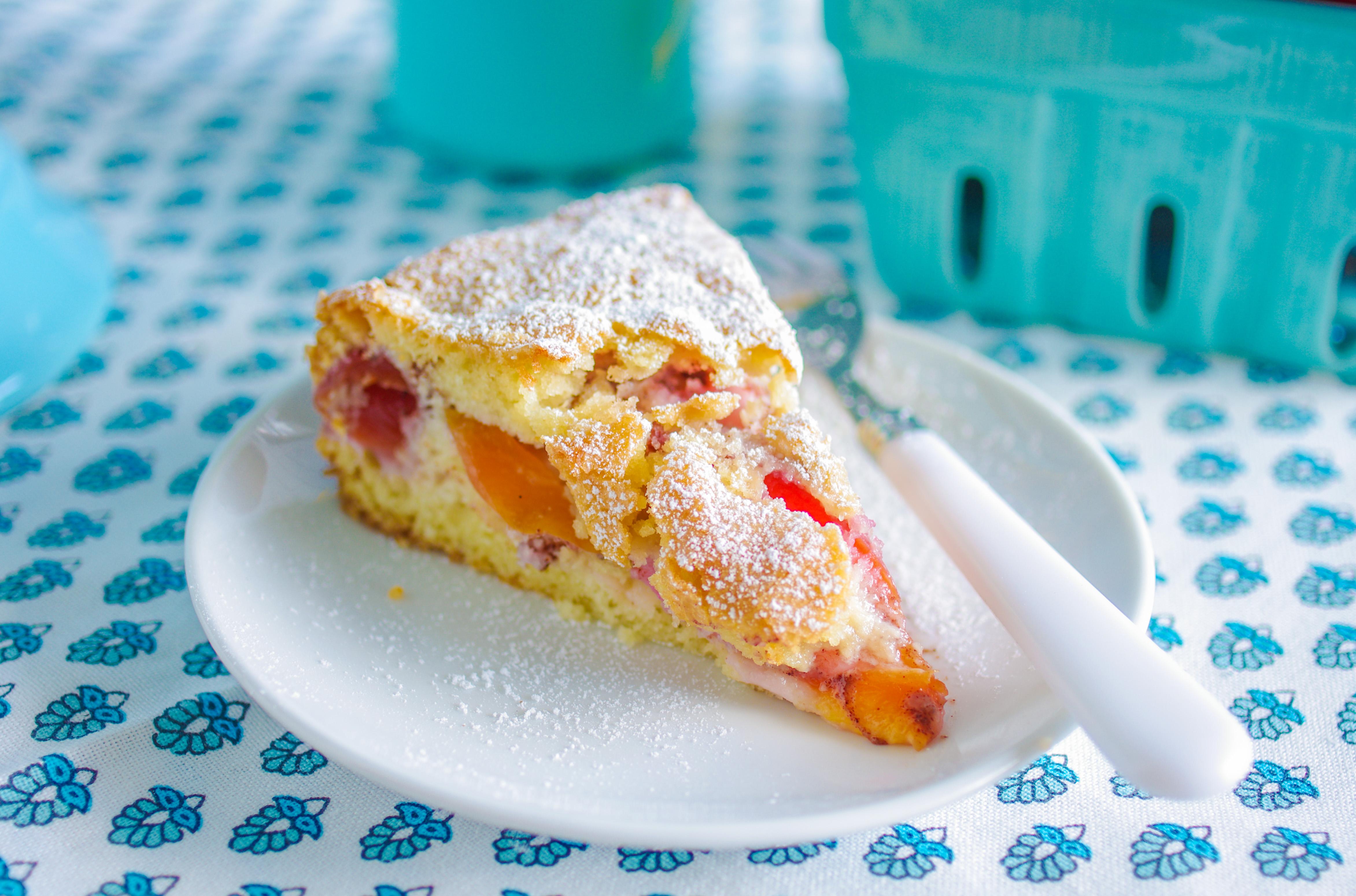 Recipe: A simple summer cake sandwiches ripe nectarines in a buttermilk batter