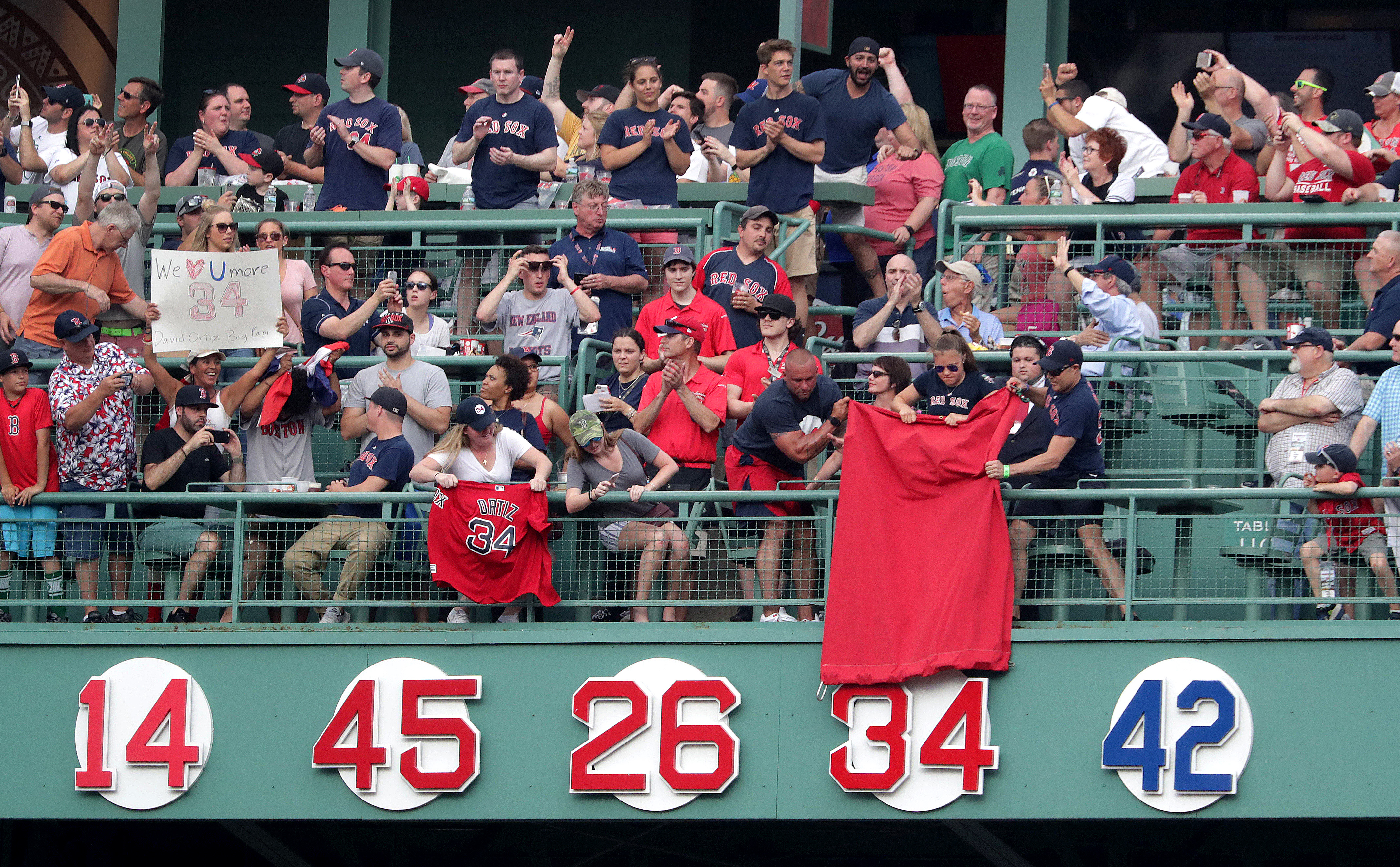 Now that Ortiz is up, whose is the next retired number for Red Sox