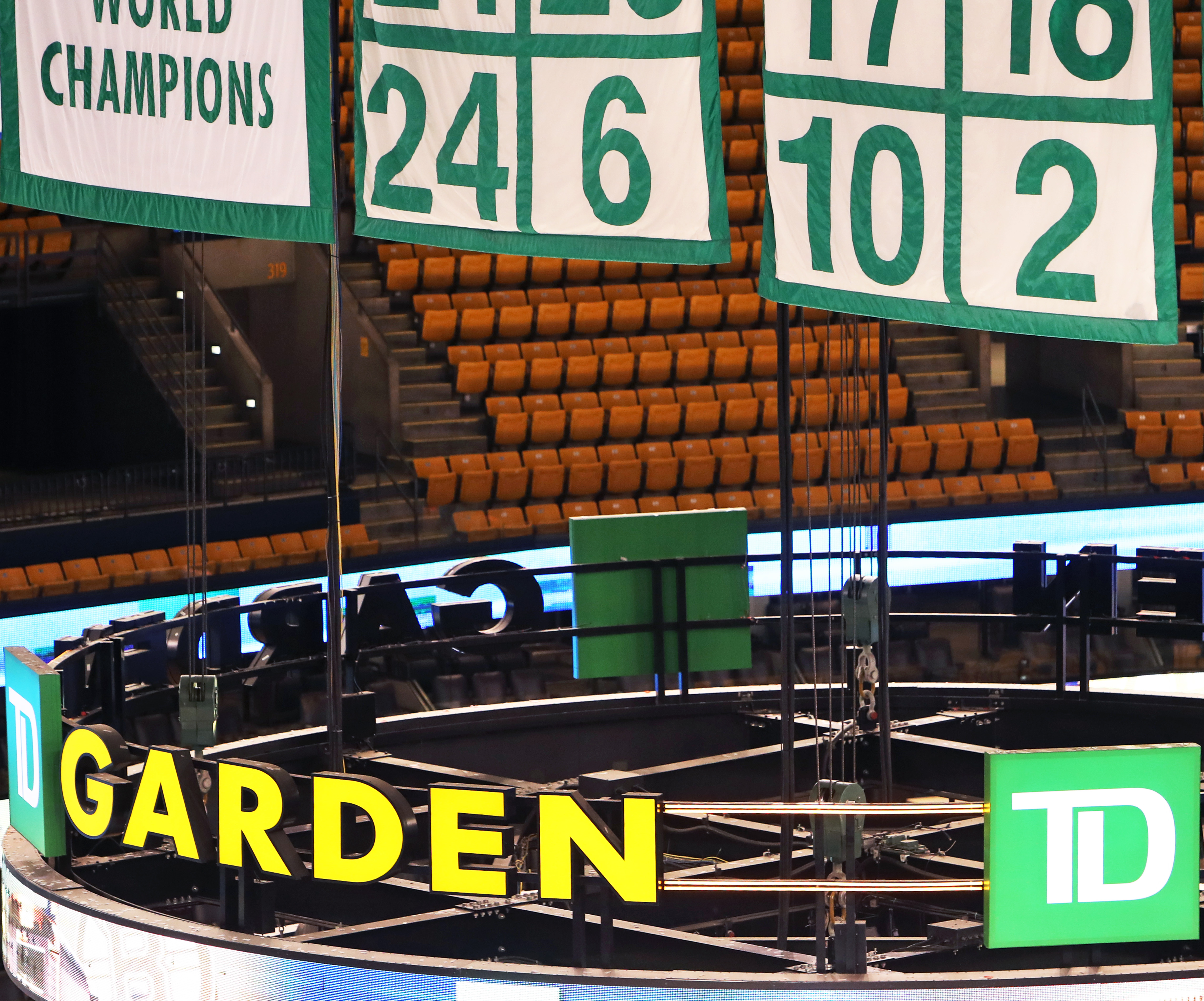 Why was Boston Garden nearly empty when Bill Russell's number was