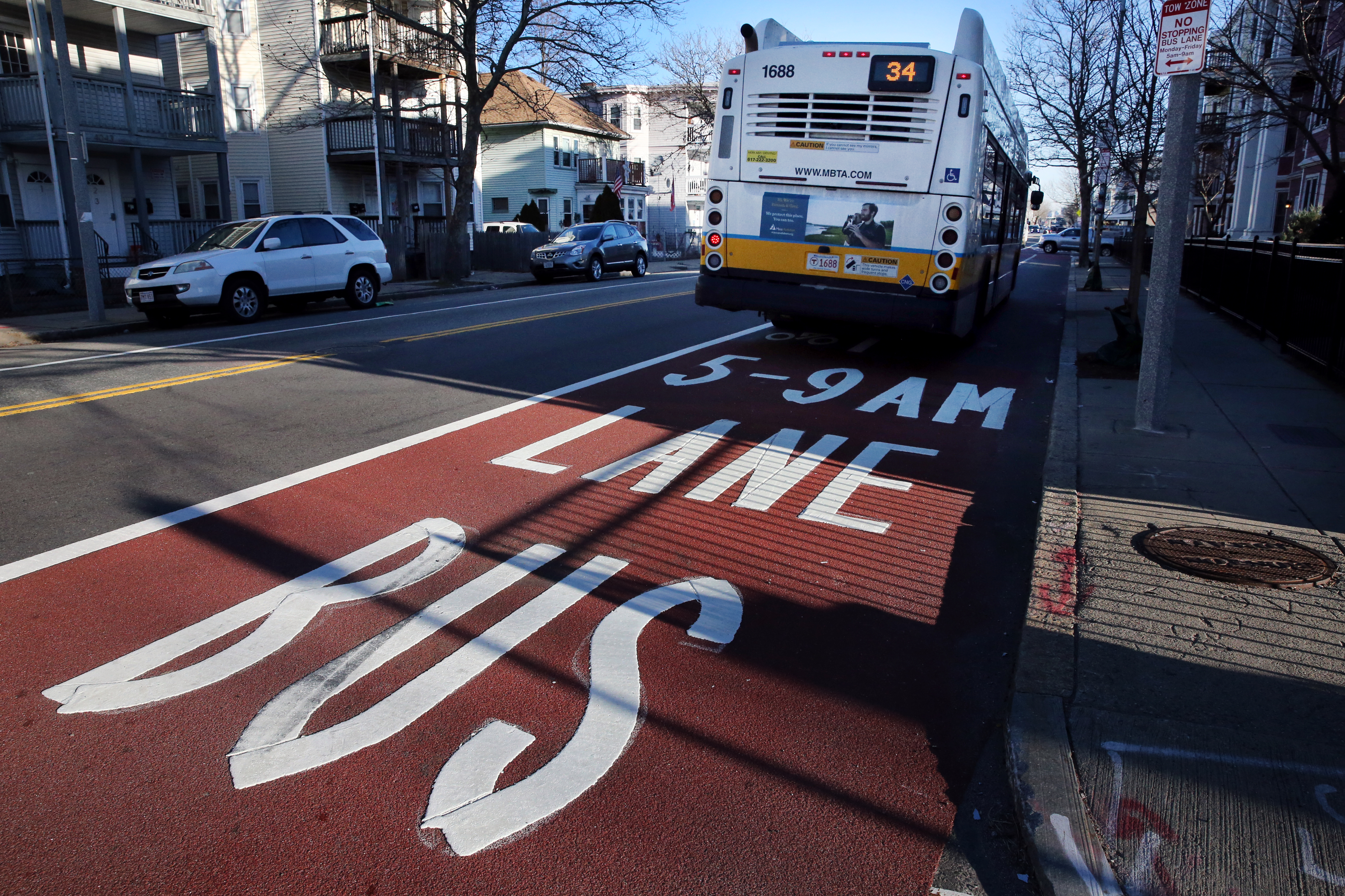 Boston's new bus-only lanes are an improvement  But who will pay for