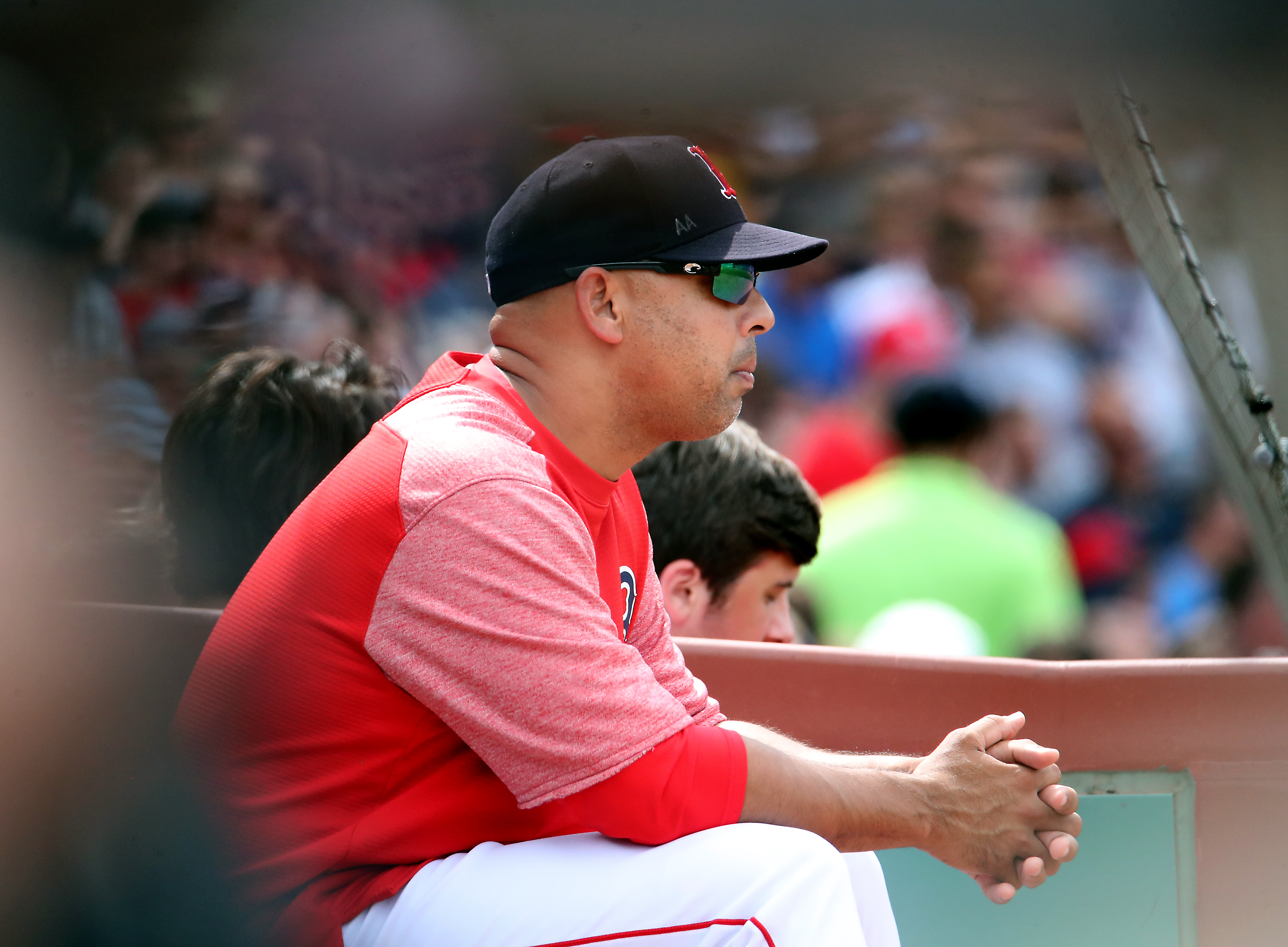 promo code 0062a 8d4ec Grieving Alex Cora found solace fleeting in Red Sox shutout win