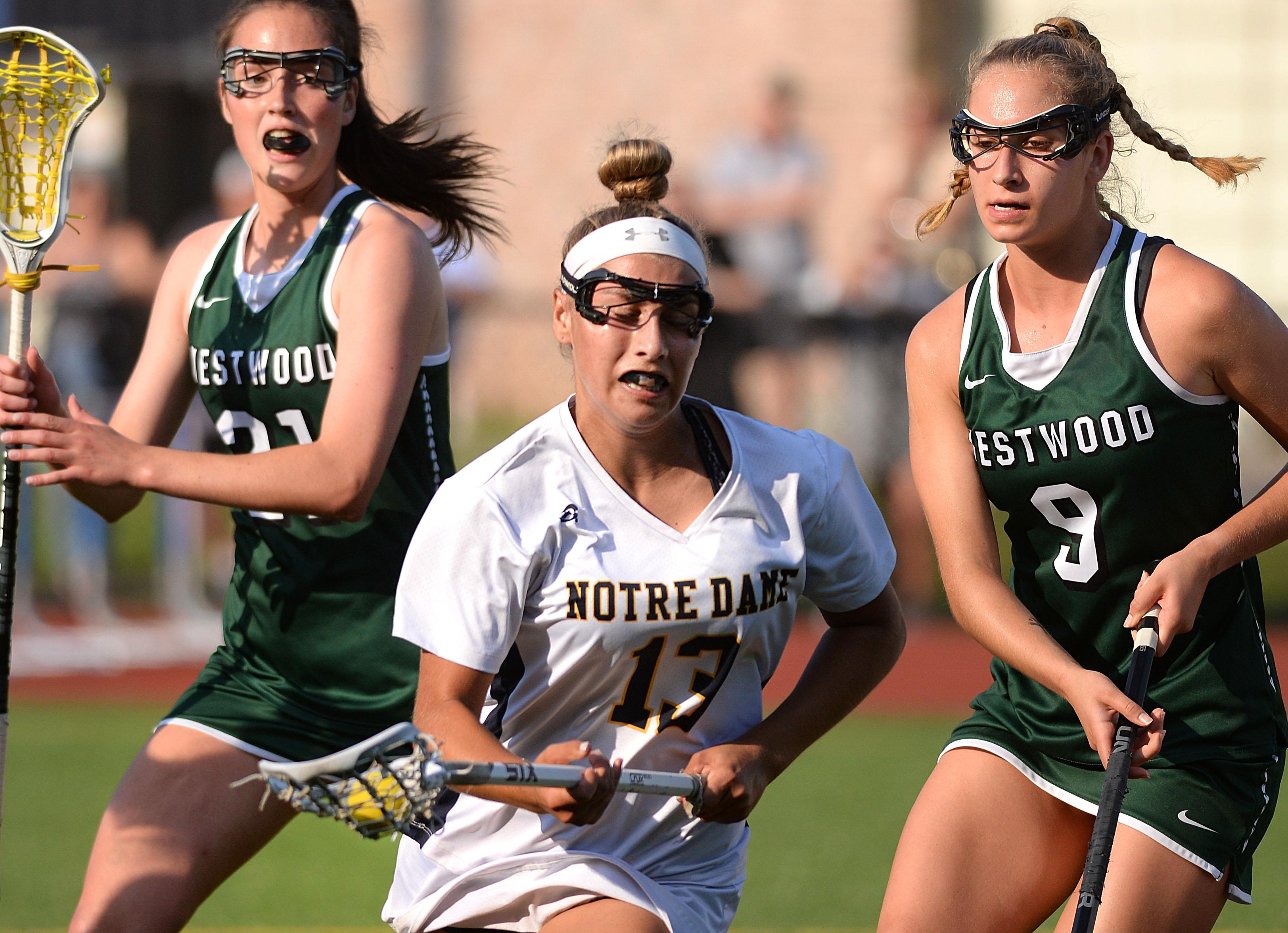 Westwood girls lacrosse gets small revenge on Notre Dame