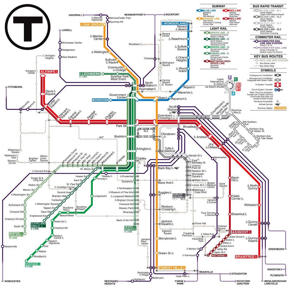 Mbta Subway Map Boston Ma.Mbta Map Making Contest Garners 17 000 Votes The Boston Globe