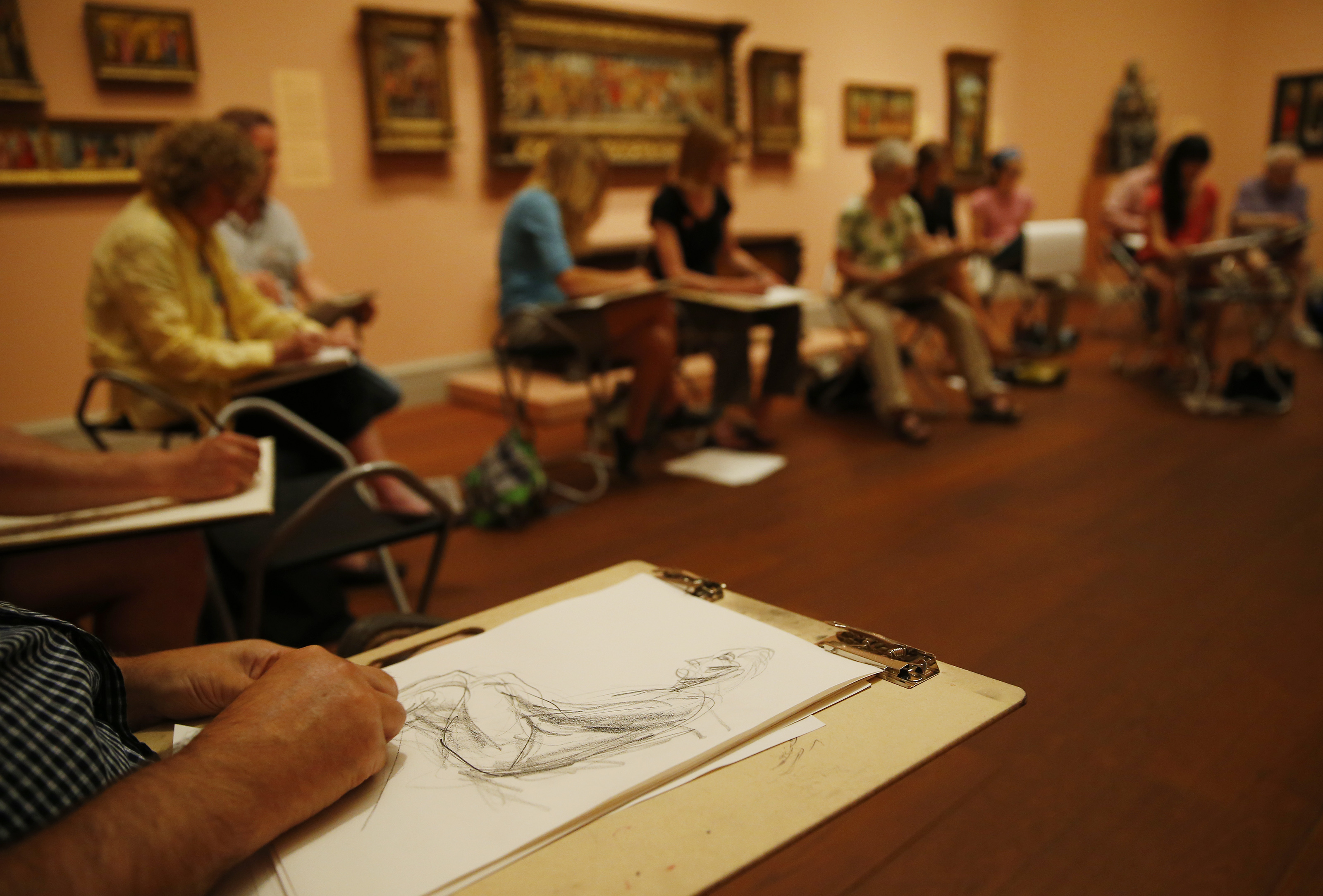 In Worcester, nude-figure sketch classes drawing attention