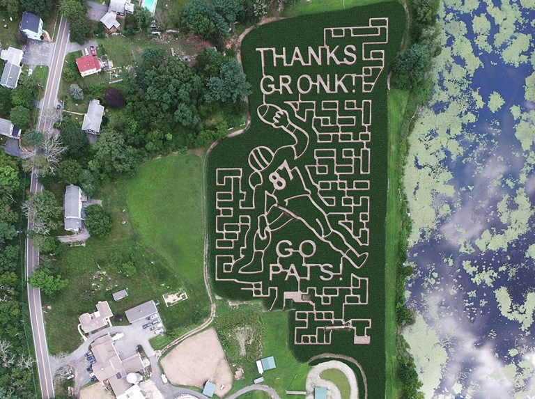 A Whitinsville Corn Maze Will Honor Gronk This Month The