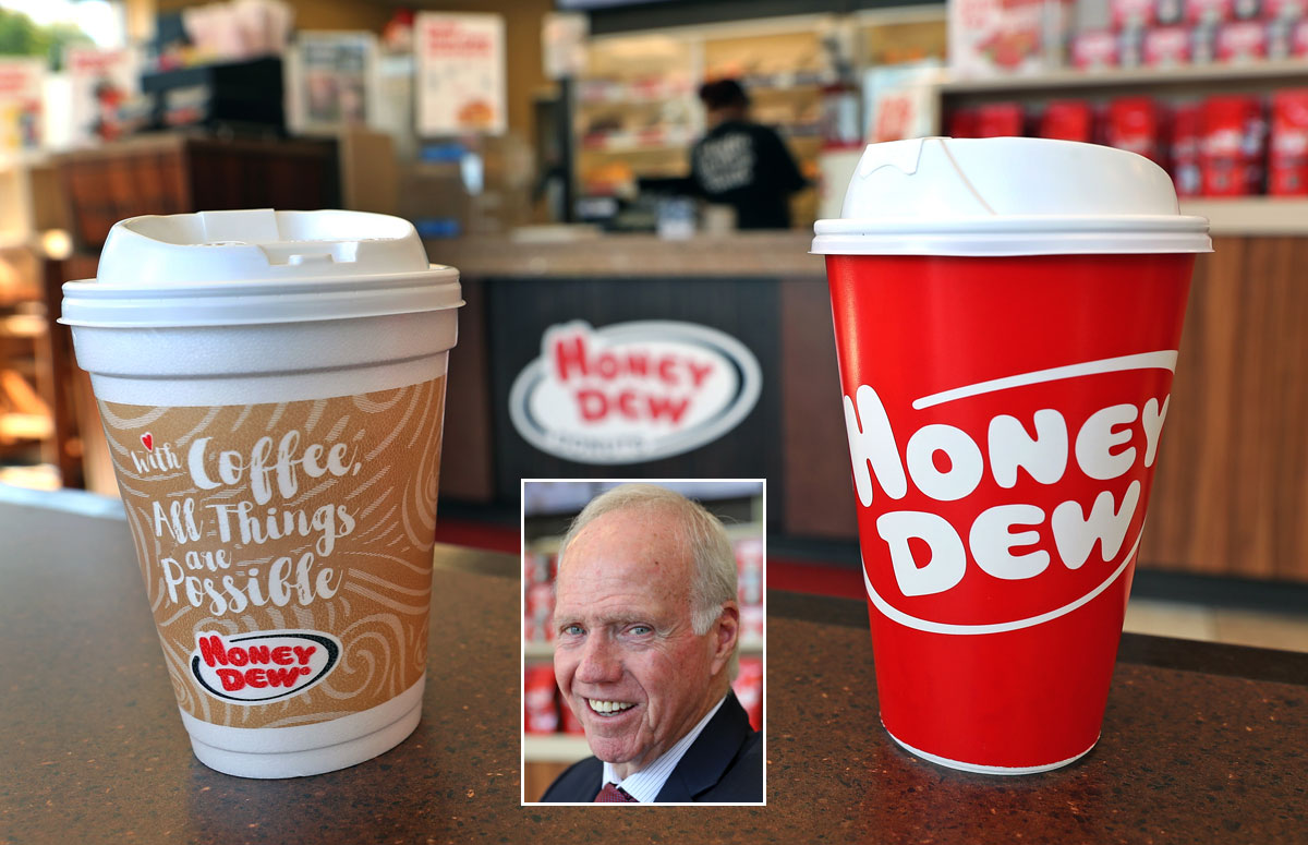Honey Dew, Dunkin' toss out Styrofoam cups, but is it enough to save the planet?