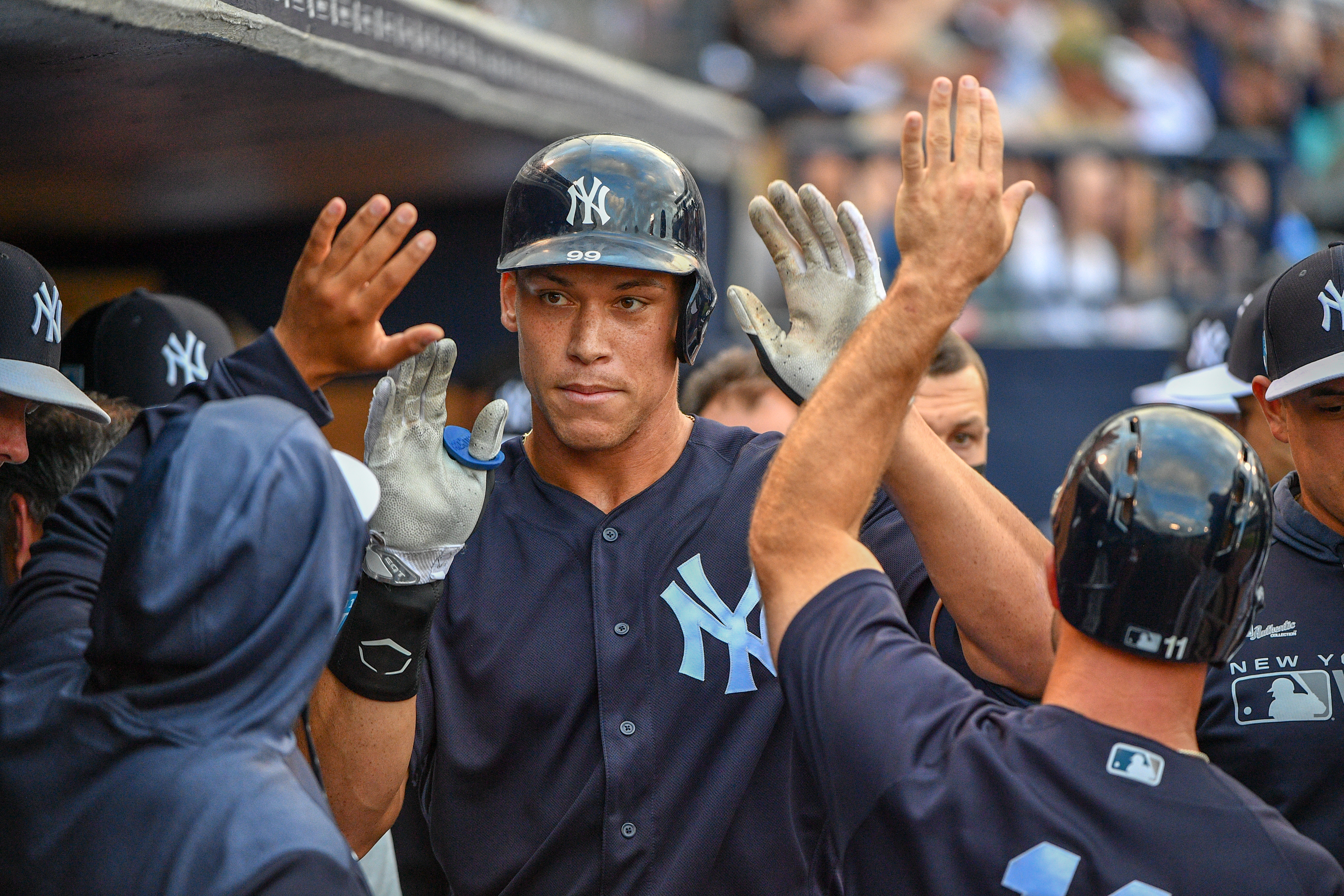 428aecef7d95b Red Sox outfield has a big fan in Yankees  Aaron Judge - The Boston Globe