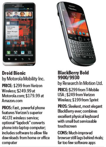 BlackBerry battles back, Droid Bionic wows - The Boston Globe