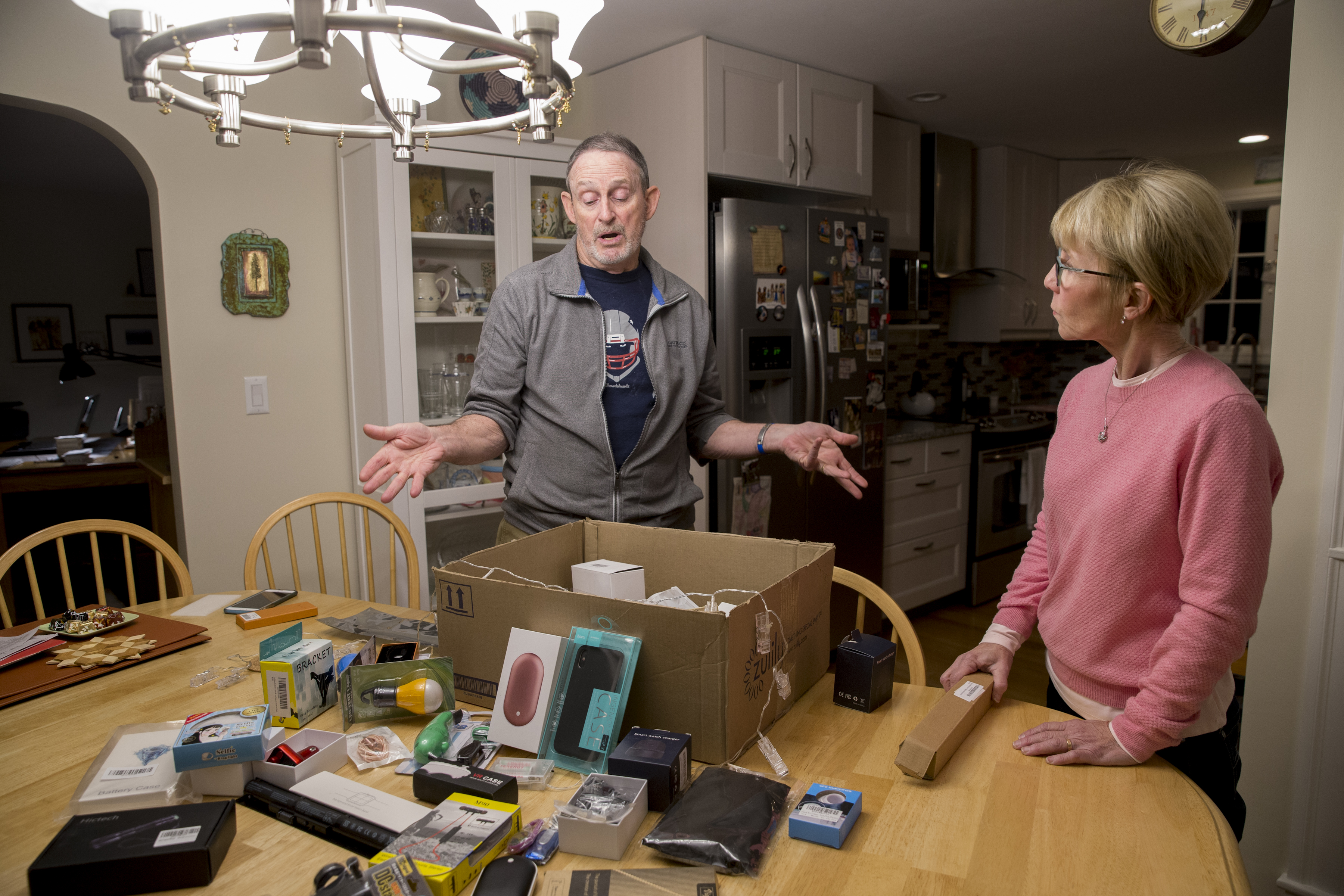 This couple keeps getting mystery packages from Amazon they didn't
