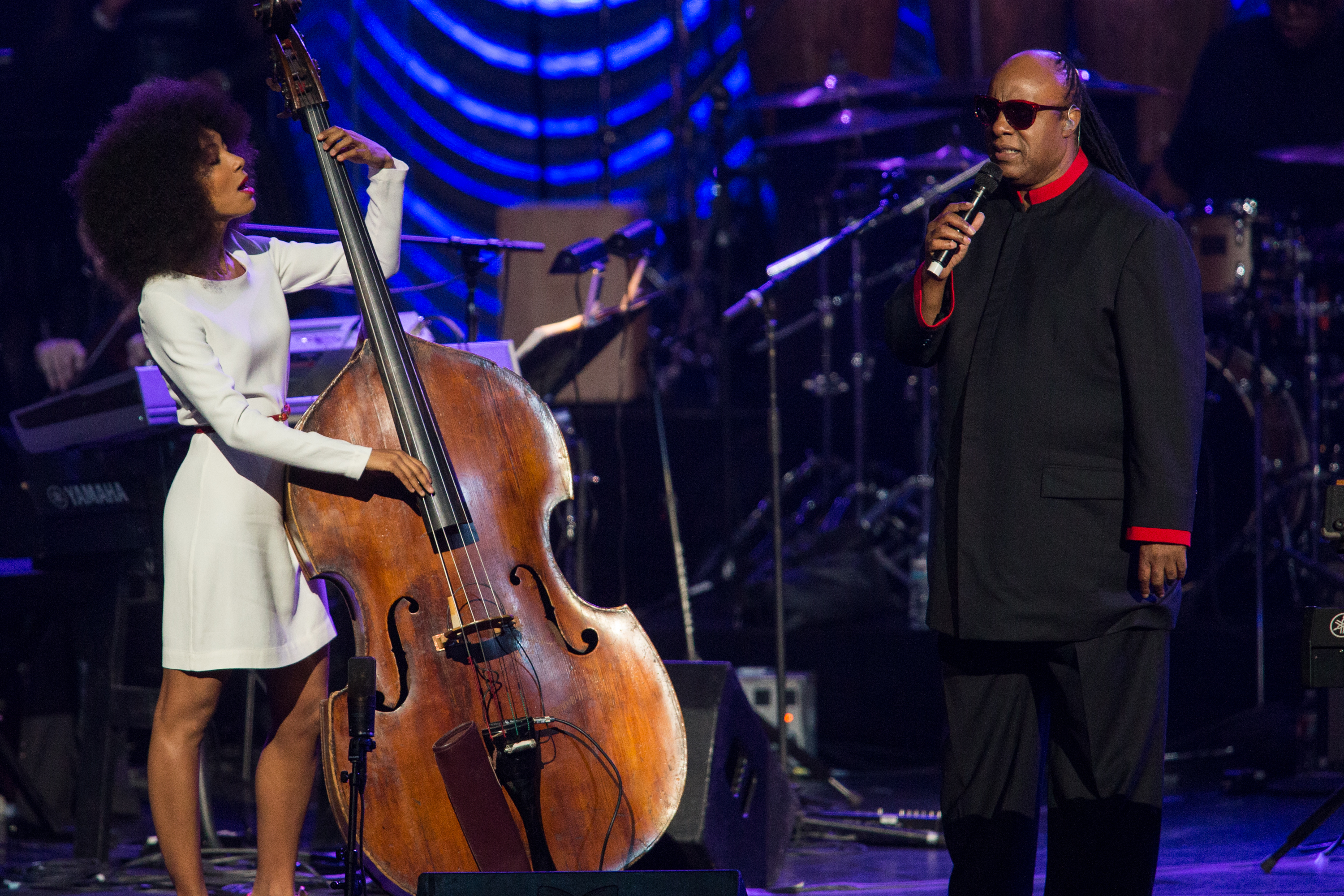 Esperanza Spalding joins Stevie Wonder in LA - The Boston Globe