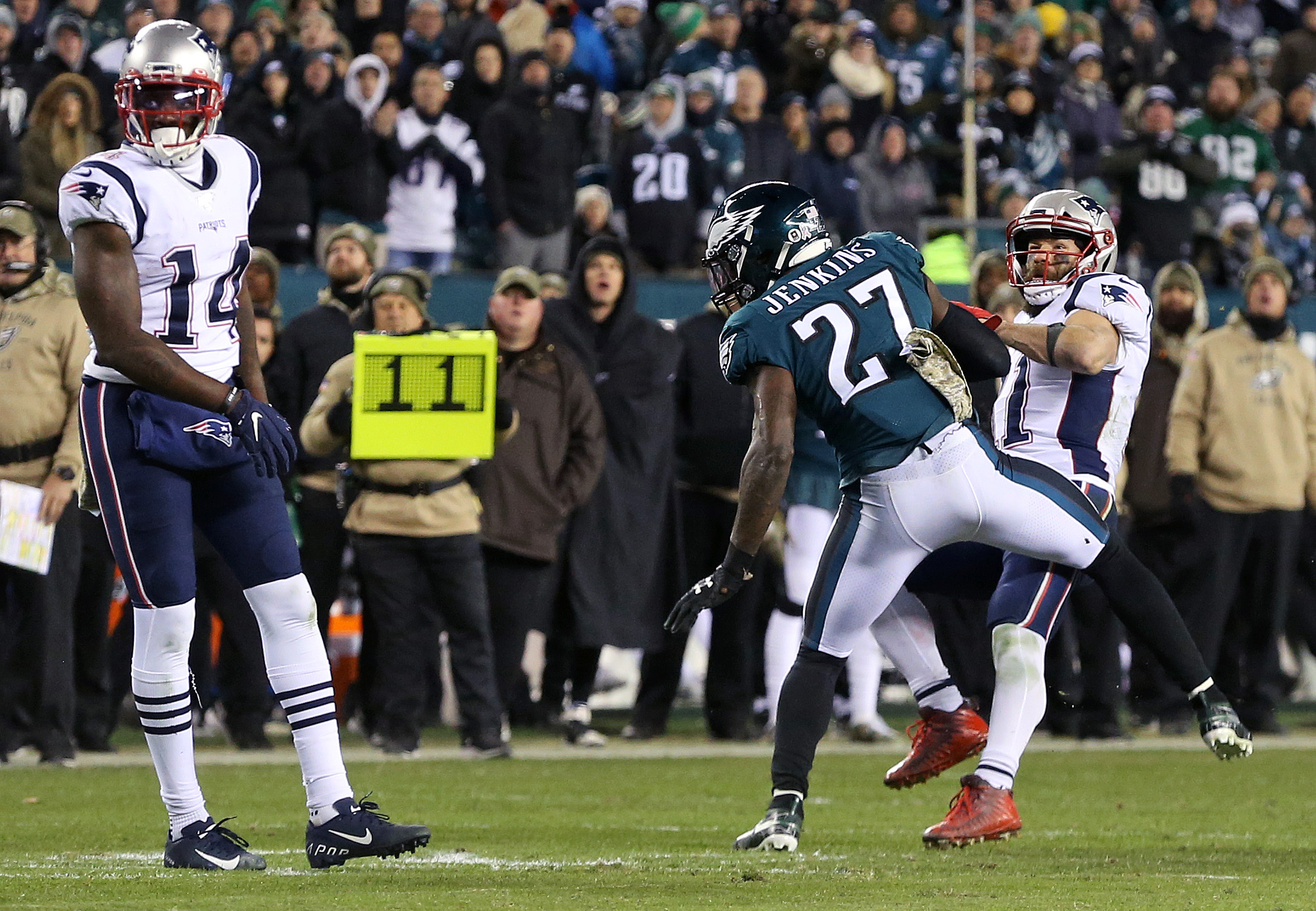 With Patriots offense struggling, Julian Edelman delivered