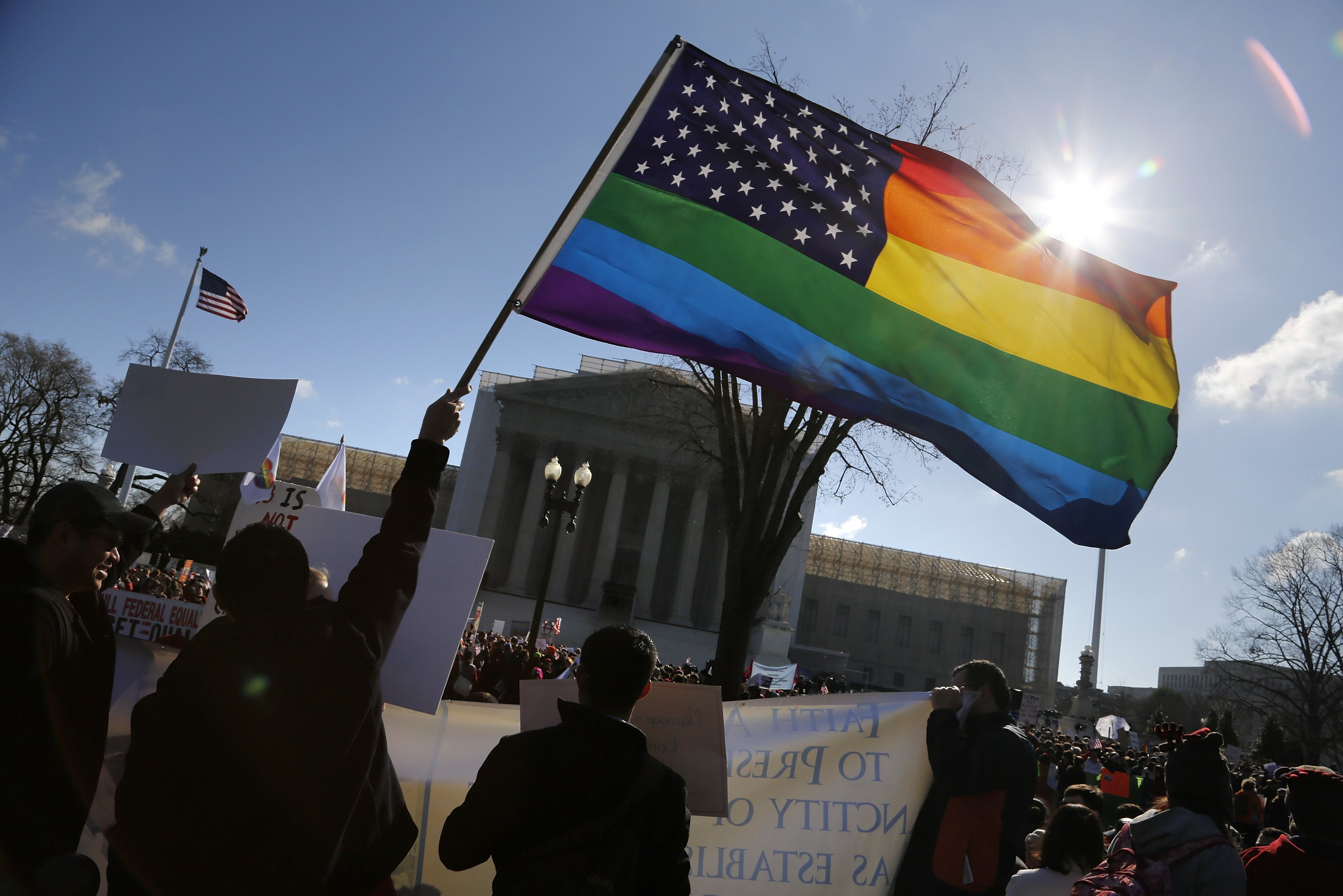 Supreme Court hears arguments in gay marriage case - The