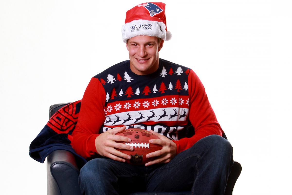 more photos c2623 c9472 Gronk's ugly Christmas sweater sells out - The Boston Globe