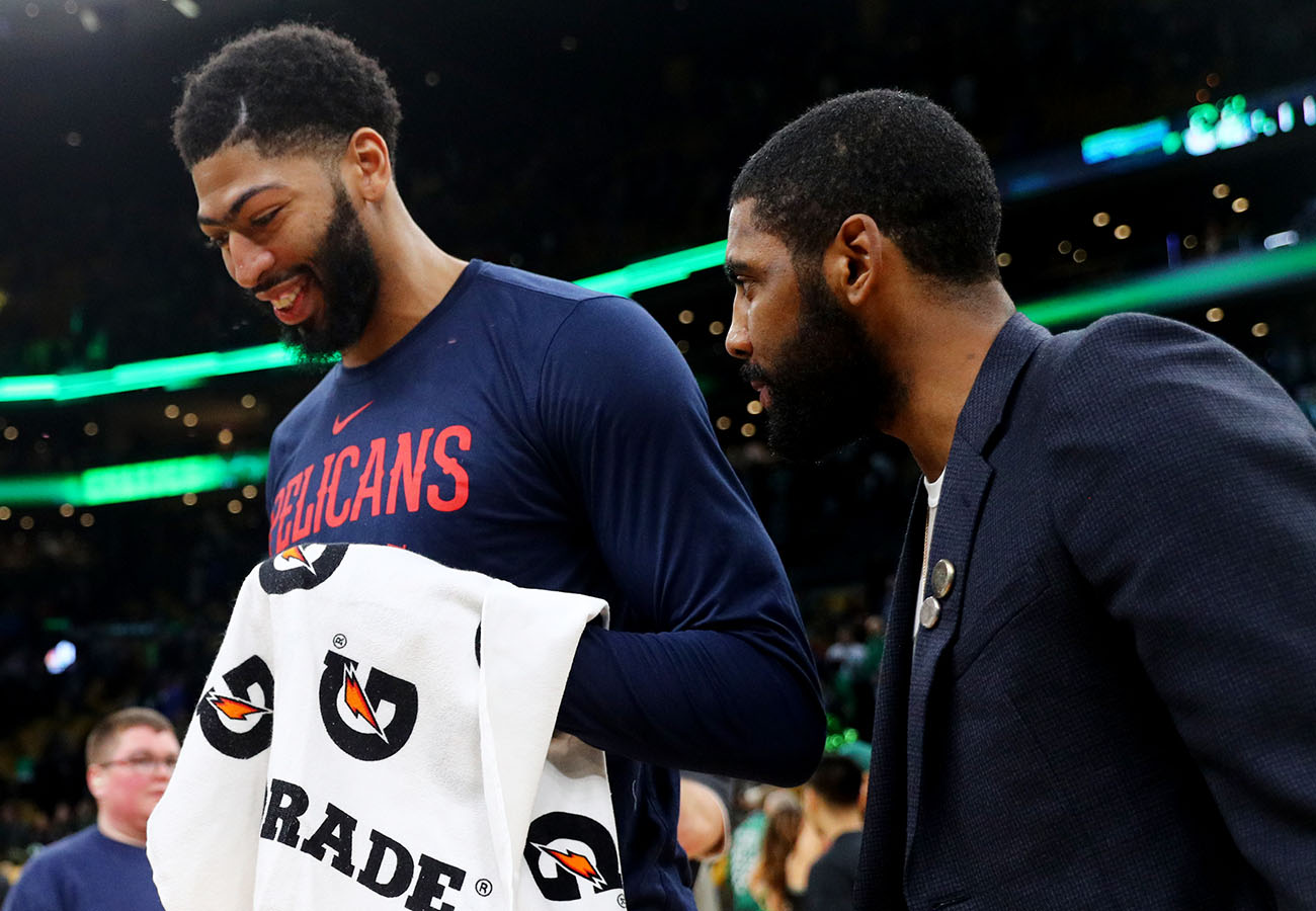 With faith in Kyrie Irving's return dwindling, Celtics focus on Anthony Davis
