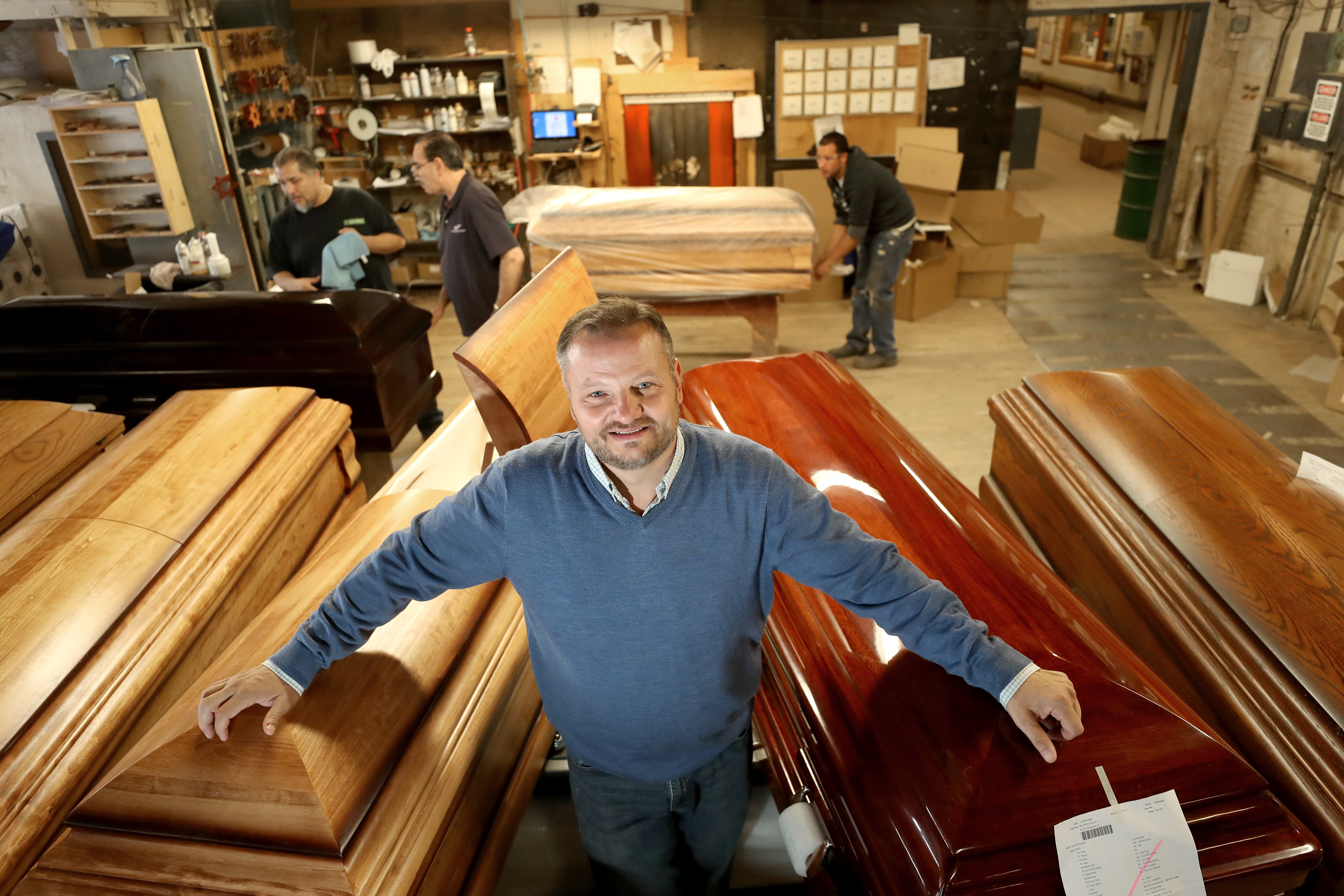 He makes caskets for the rich and famous - The Boston Globe