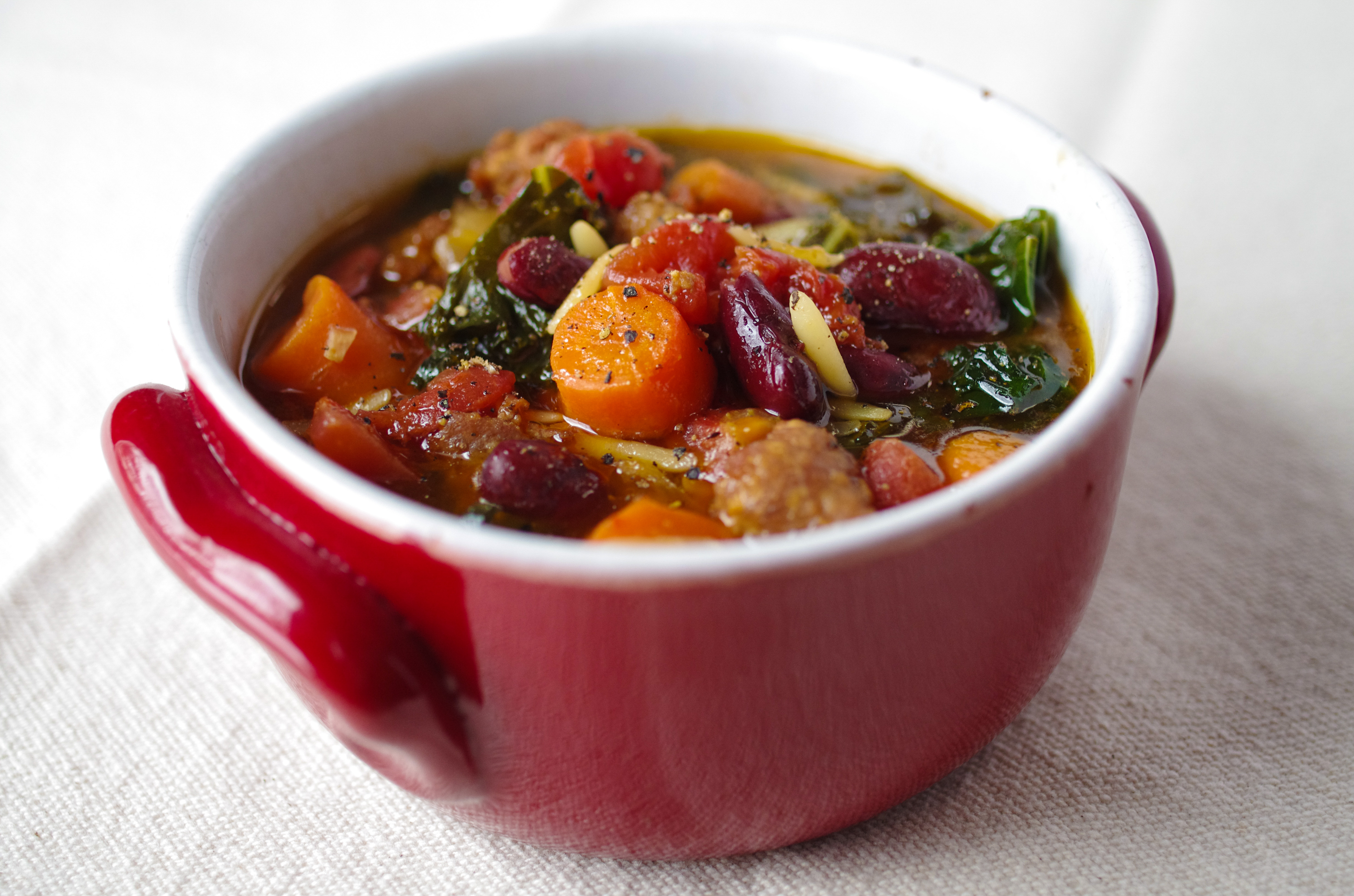 Recipe for sausage and kale soup