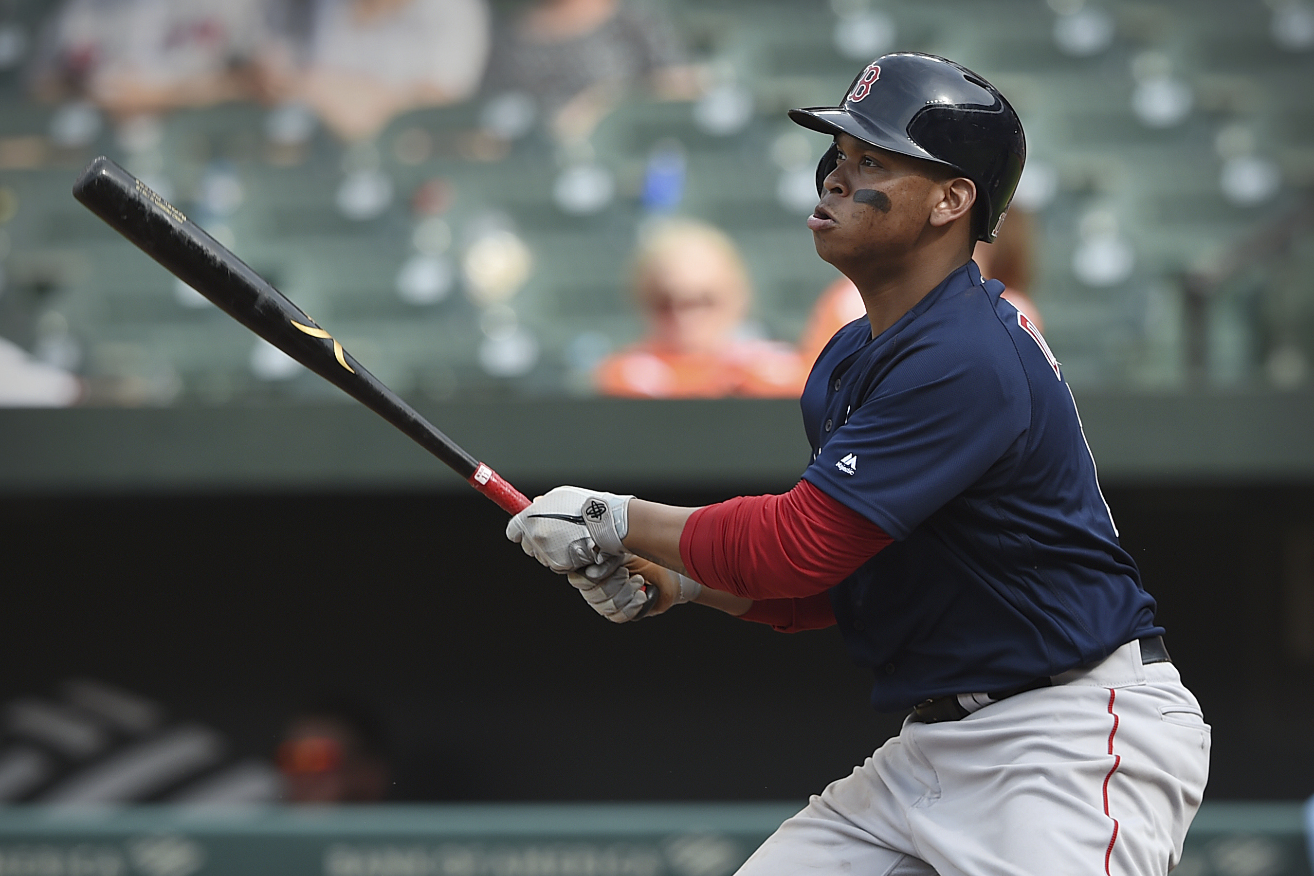 Rafael Devers's homer Sunday was the talk of the Red Sox' dugout
