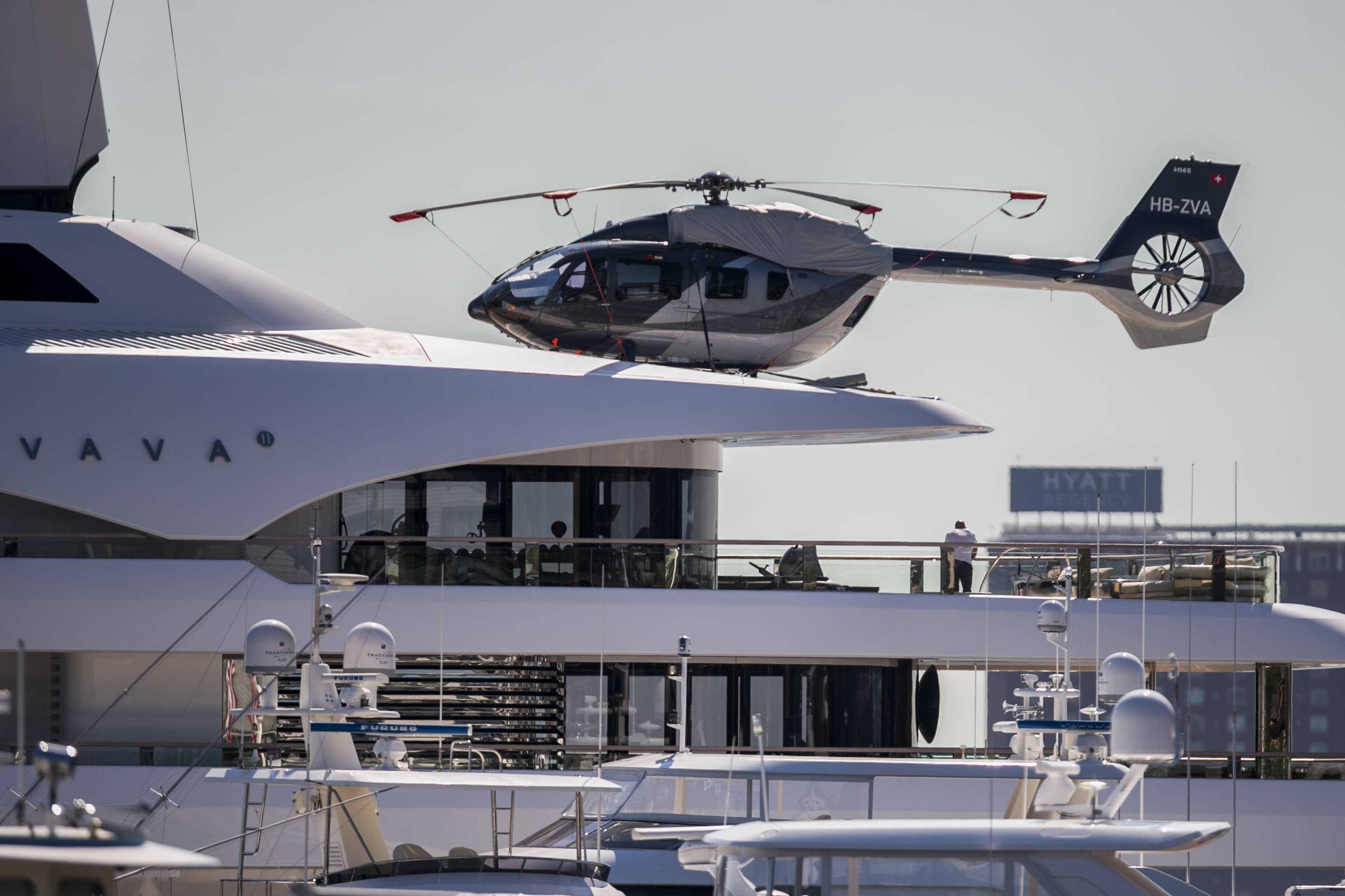 That's one big (and expensive) yacht: Vava II visits Boston
