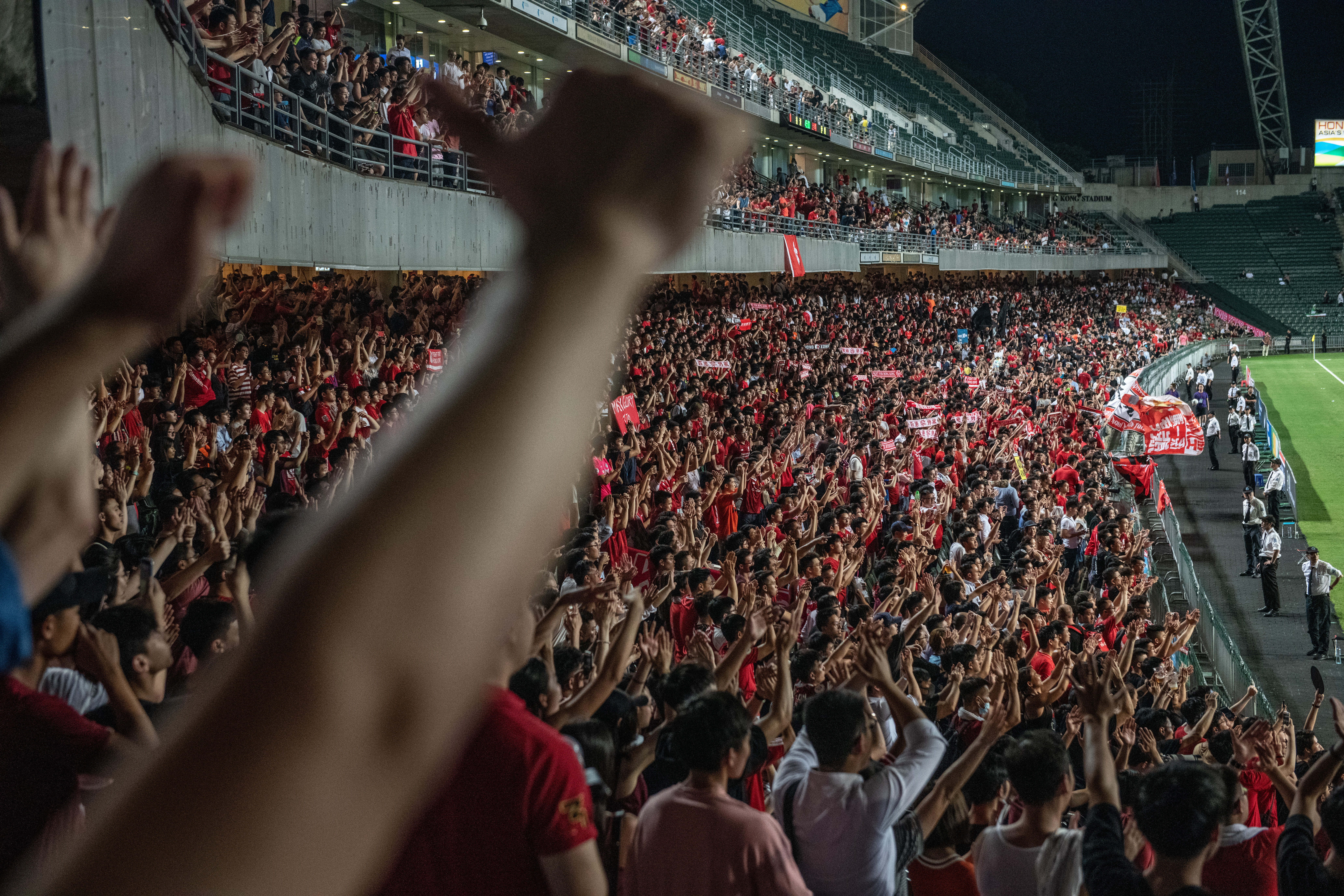 Hong Kong Soccer Fans Loudly Boo Chinese National Anthem The Boston Globe