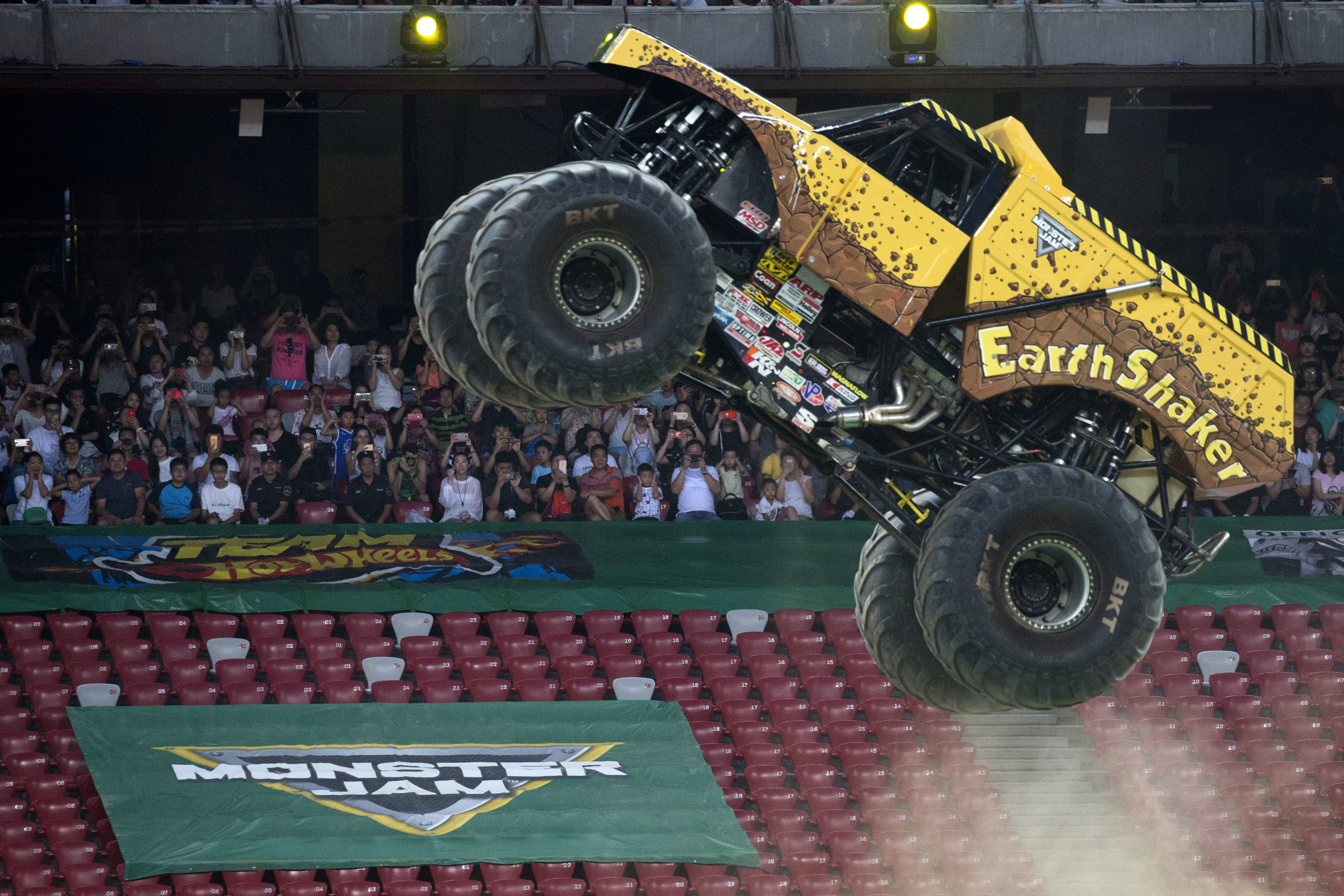 Monster trucks for everyone: Like gymnastics, but with more