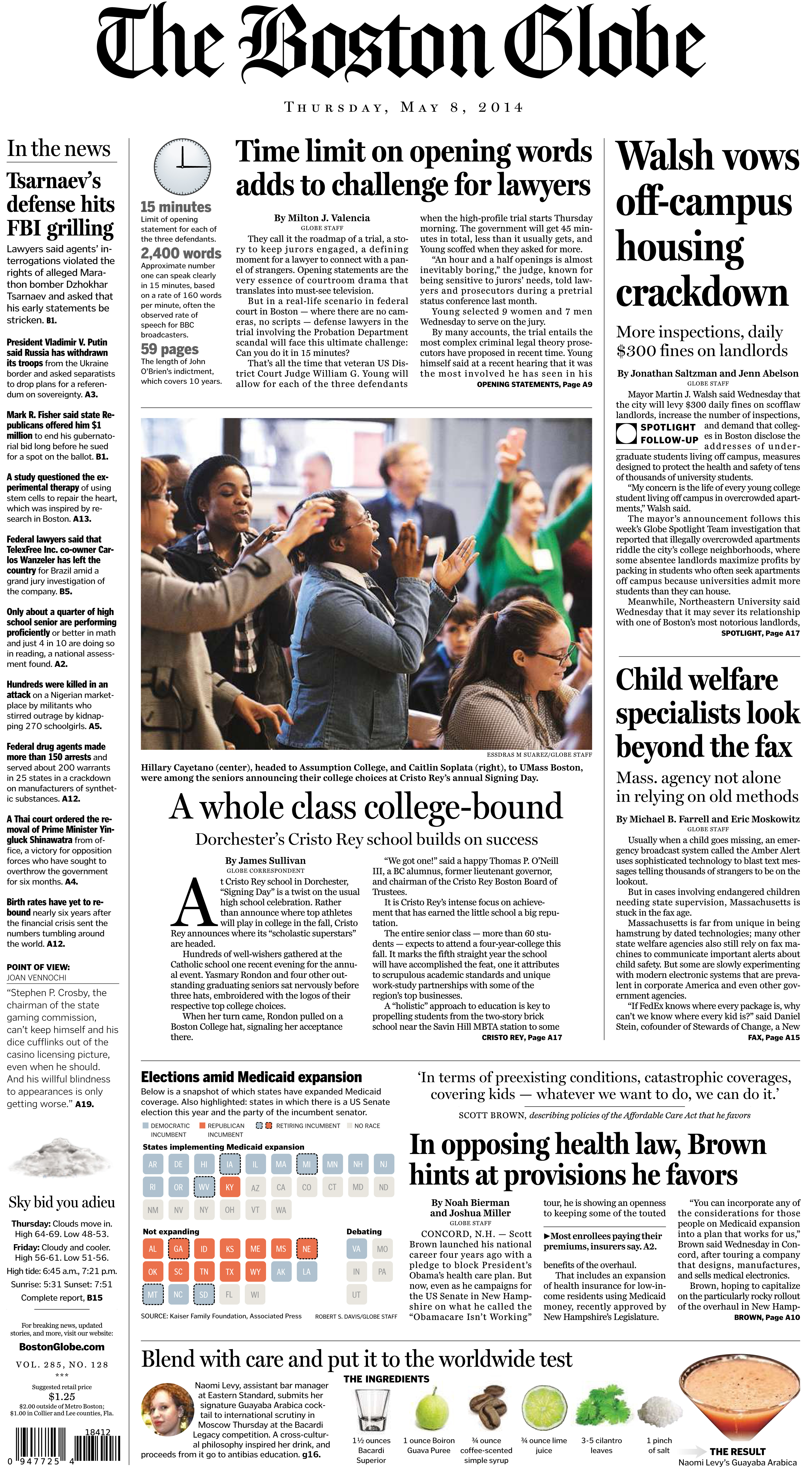 A look at Scott Brown's appearances on page one of the Globe - The