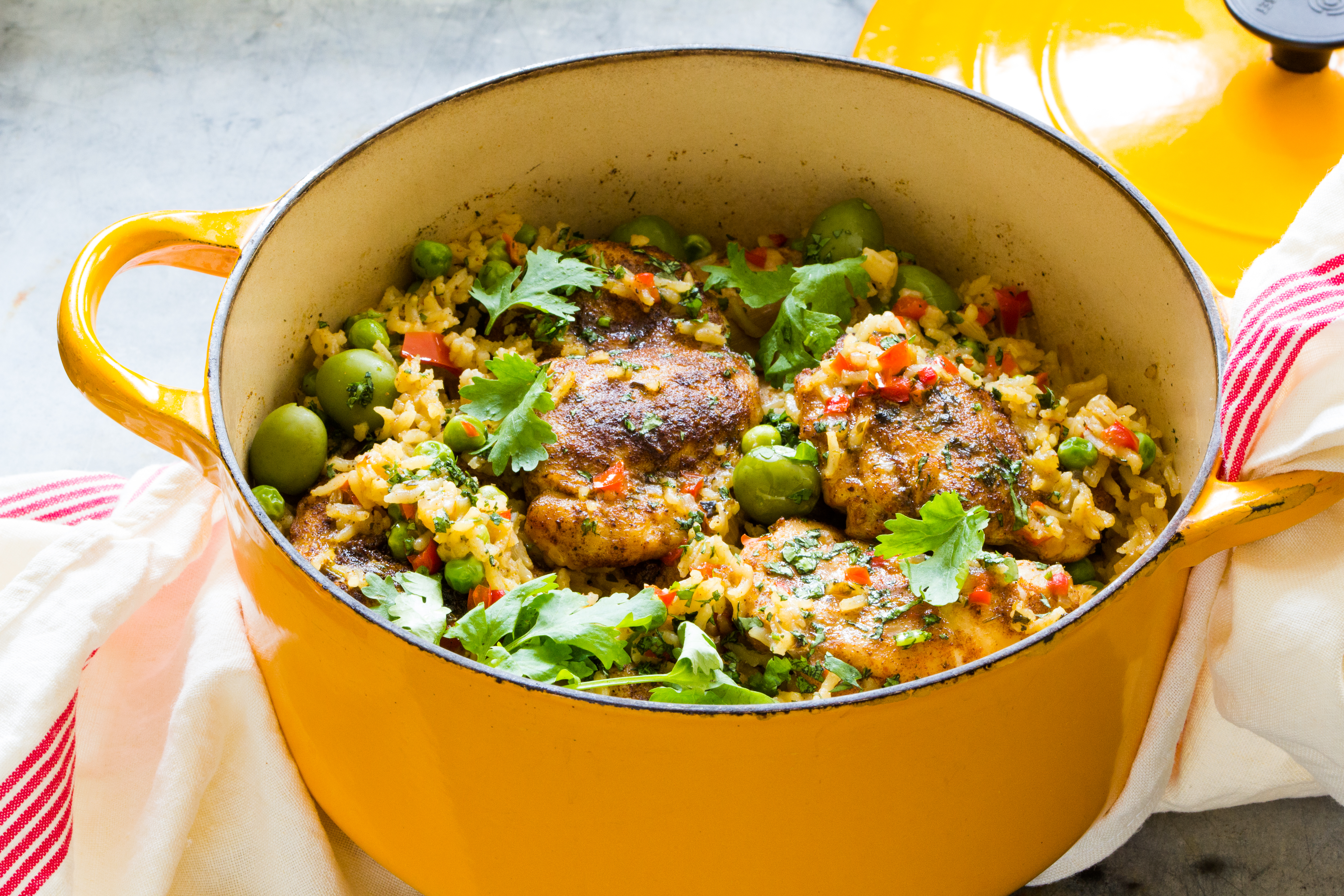 Recipe: A pot of Spanish chicken and rice is brimming with good flavors