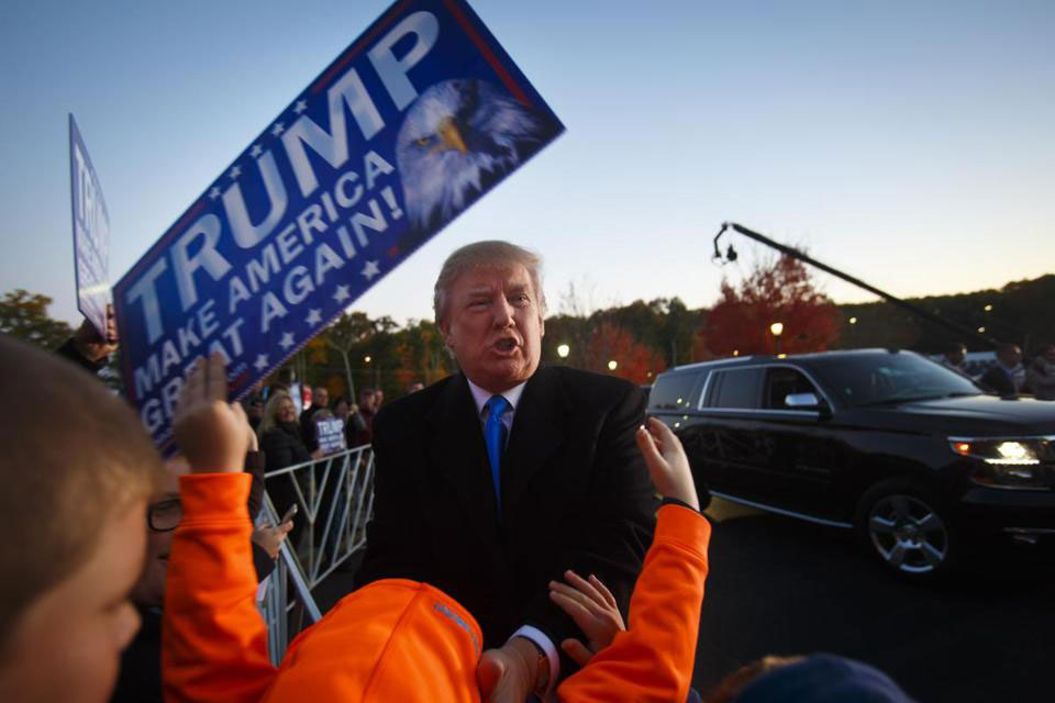 Knock-knock  Is anyone home at Donald Trump's N H  campaign