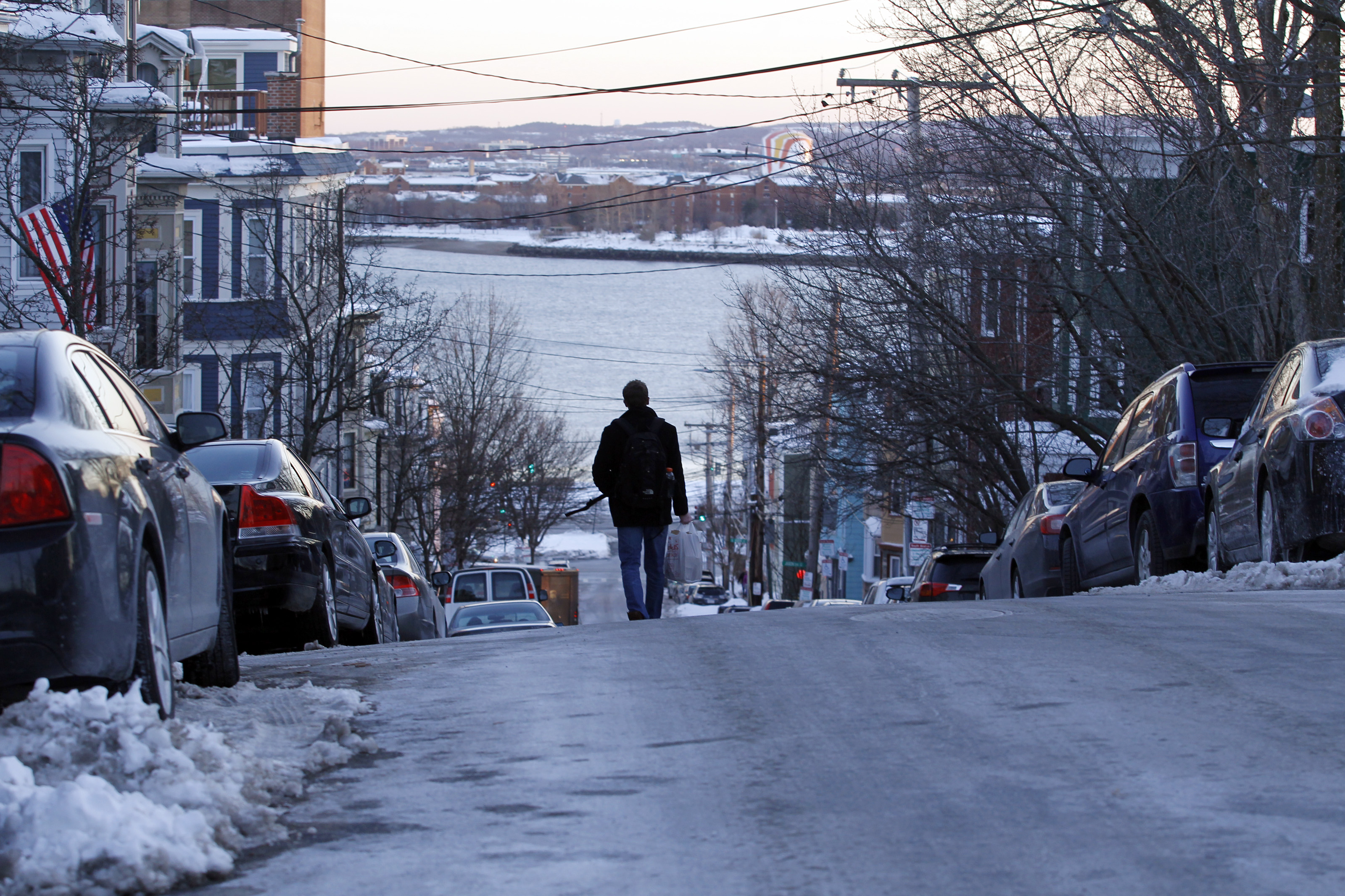 Snow-piled Boston sidewalks an uphill struggle - The Boston