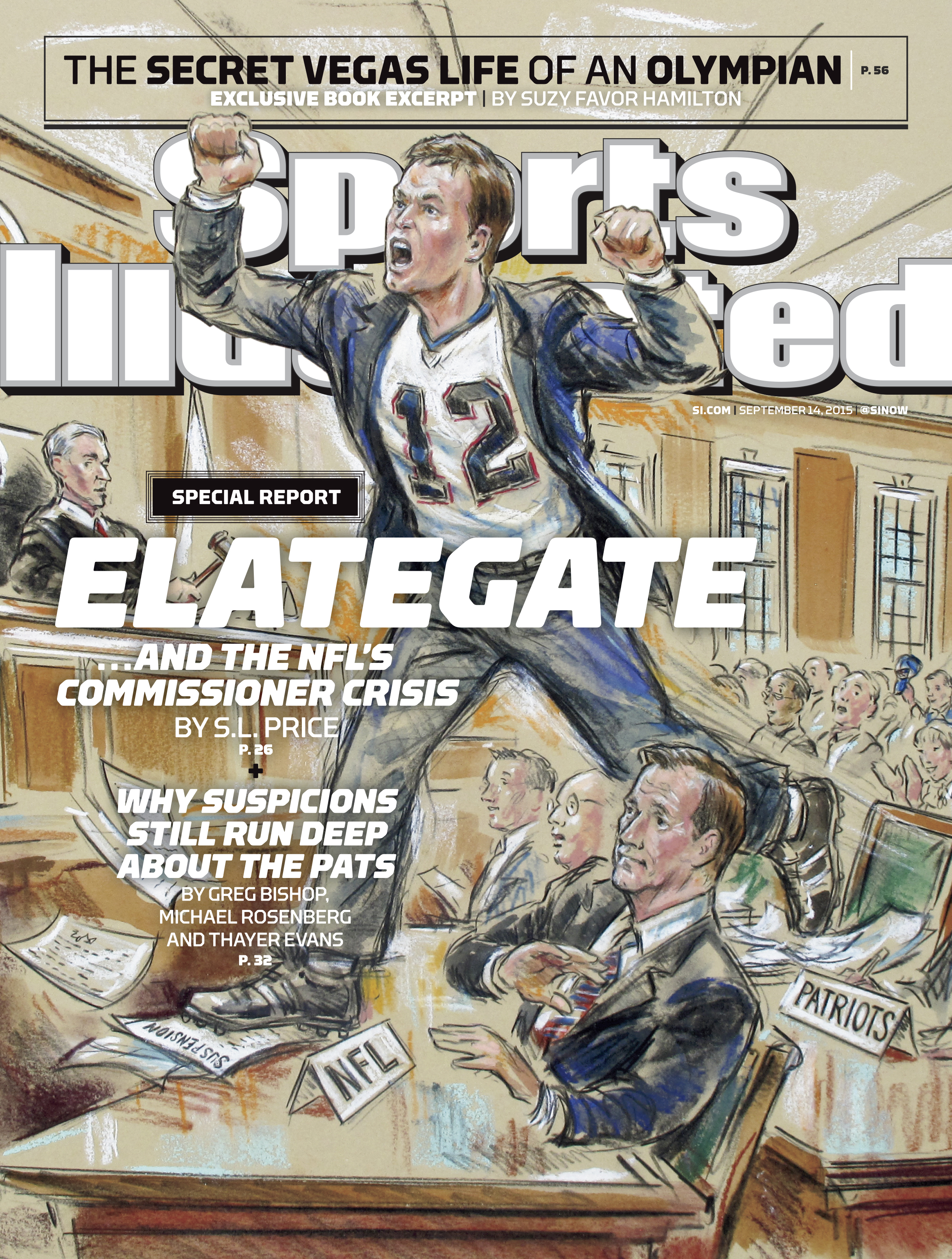 Sports Illustrated features Brady sketch on cover - The
