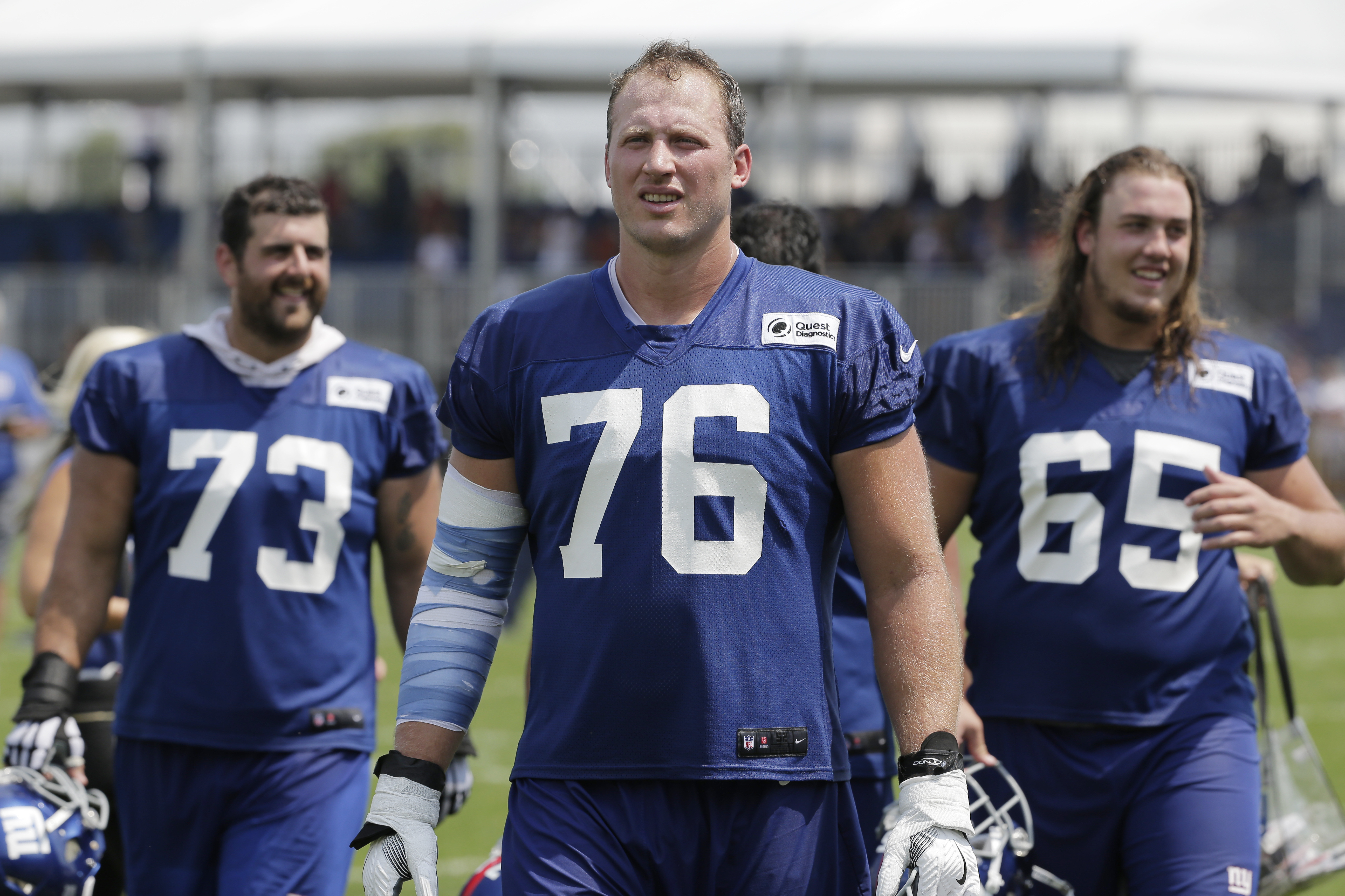 buy popular e194a 00d4b He's really flourishing': For Nate Solder, a new chapter and ...