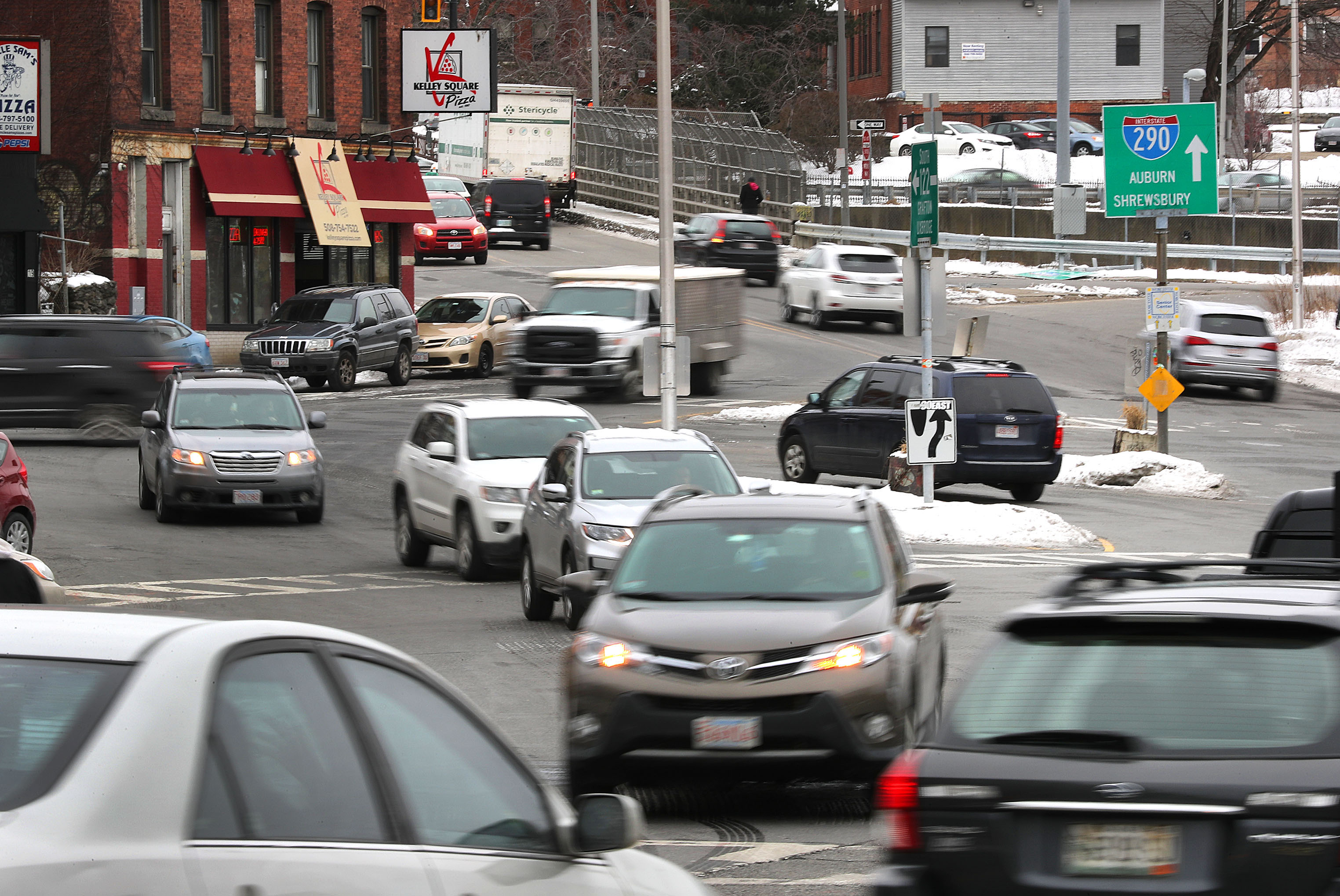 Worcester's Kelley Square: Terrifying  Woefully confusing  Peak